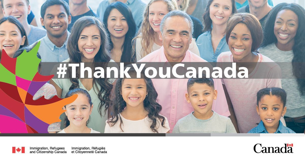 Thank You Canada ad for Immigration, Refugees and Citizenship Canada from 2019