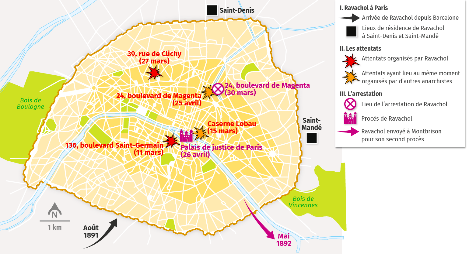 carte Ravachol à Paris