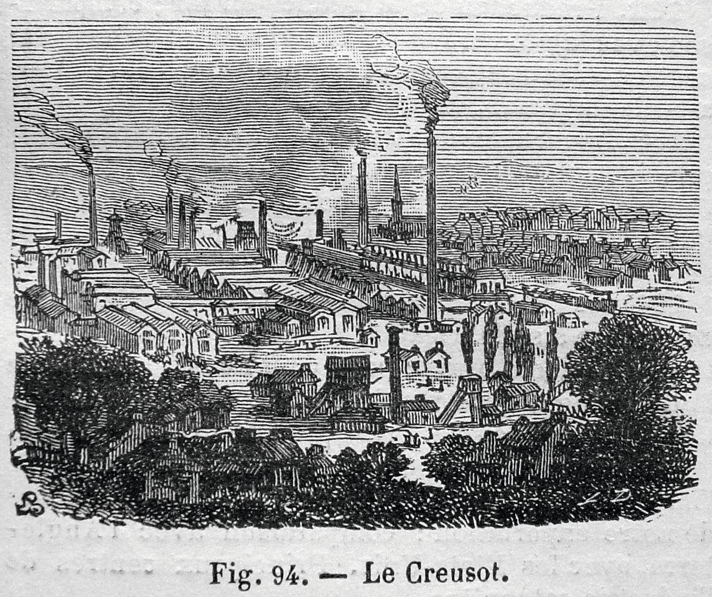 gravure Les usines du Creusot