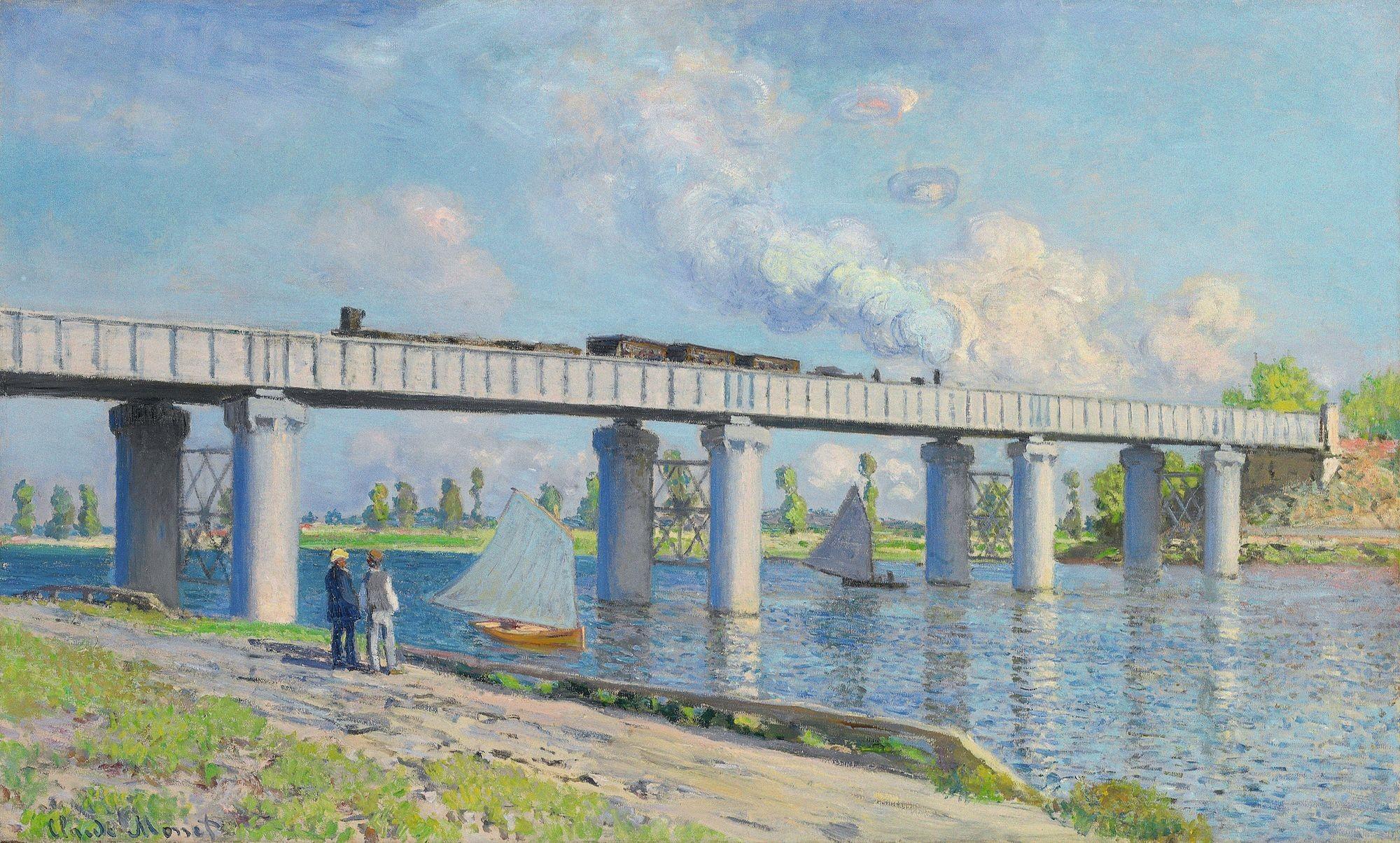 Claude Monet, Le Pont de chemin de fer à Argenteuil, 1873, huile sur toile, 60 x 99 cm, collection privée.