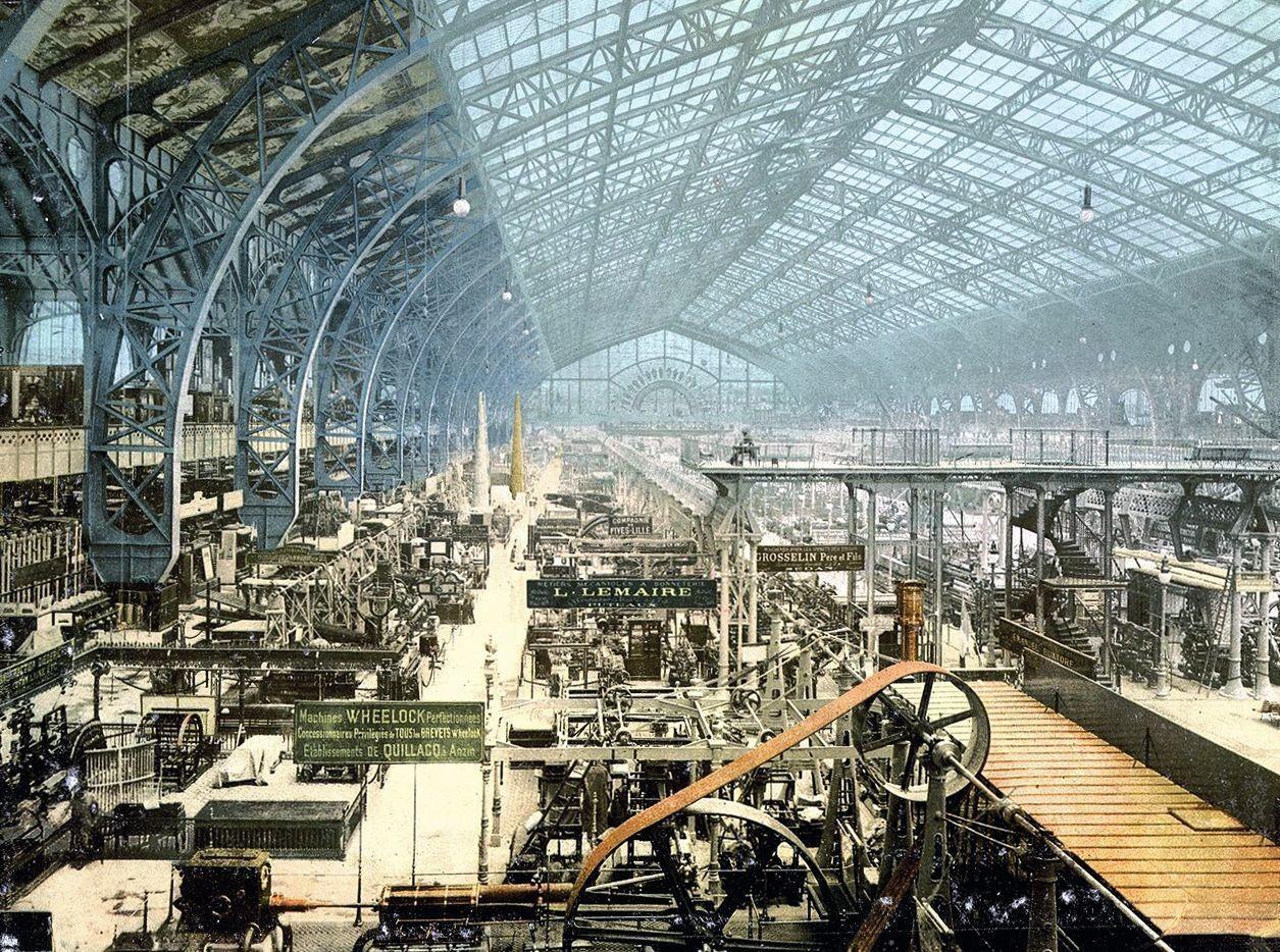 La galerie des machines - Photochrome anonyme, 1889, librairie du Congrès, Washington.
