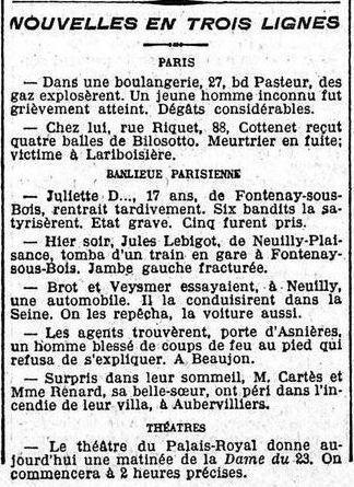 Félix Fénéon, chronique pour le journal Le Matin, 15 août 1906