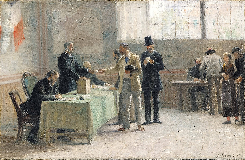 Alfred-Henri Bramtot, Le Suffrage universel, 1889.