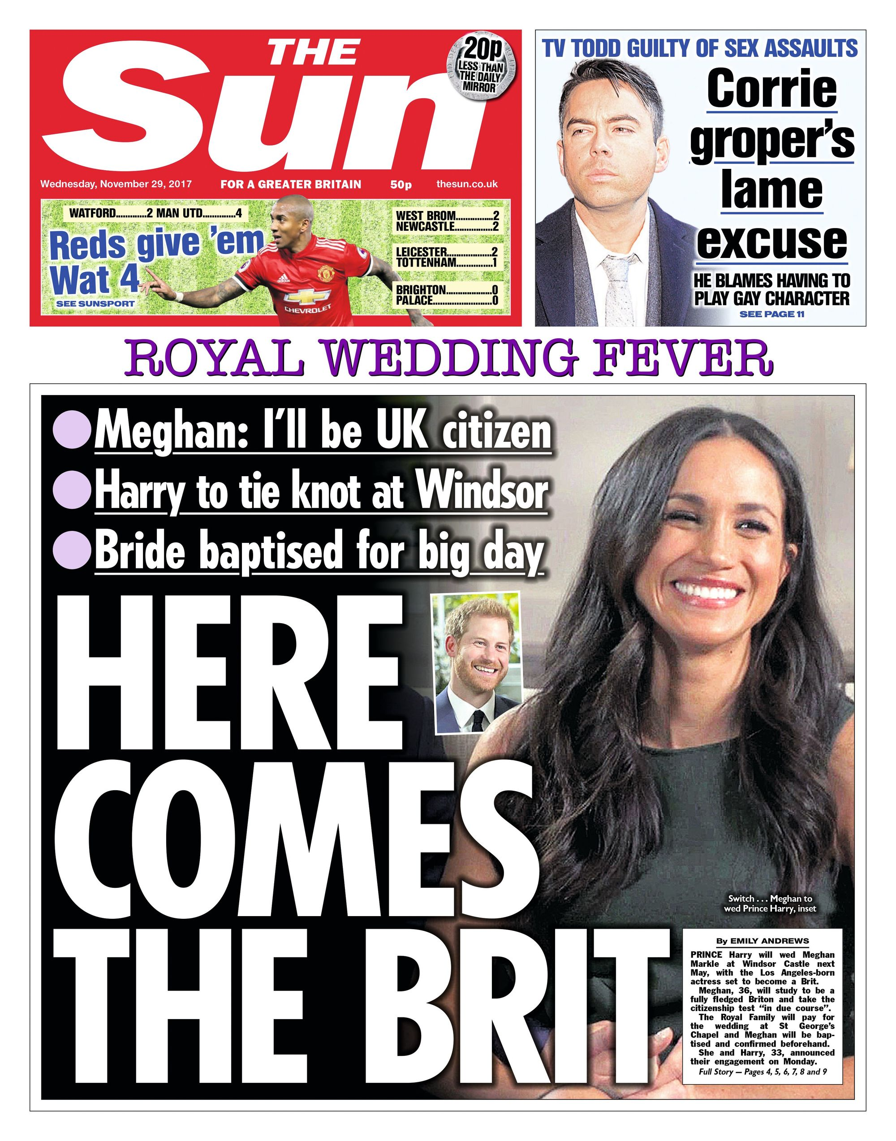The Sun, November 2017.