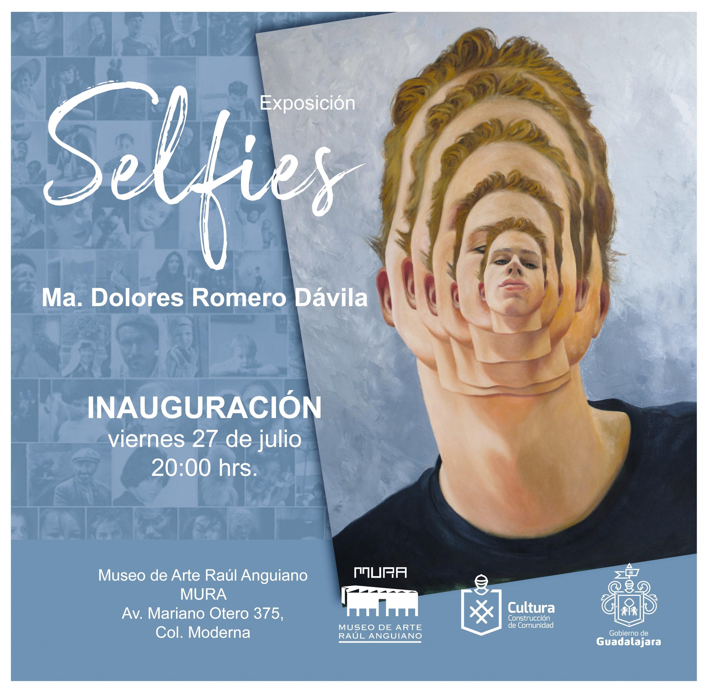 Ma. Dolores Romero Dávila, Selfie, óleo sobre tela, 2018.