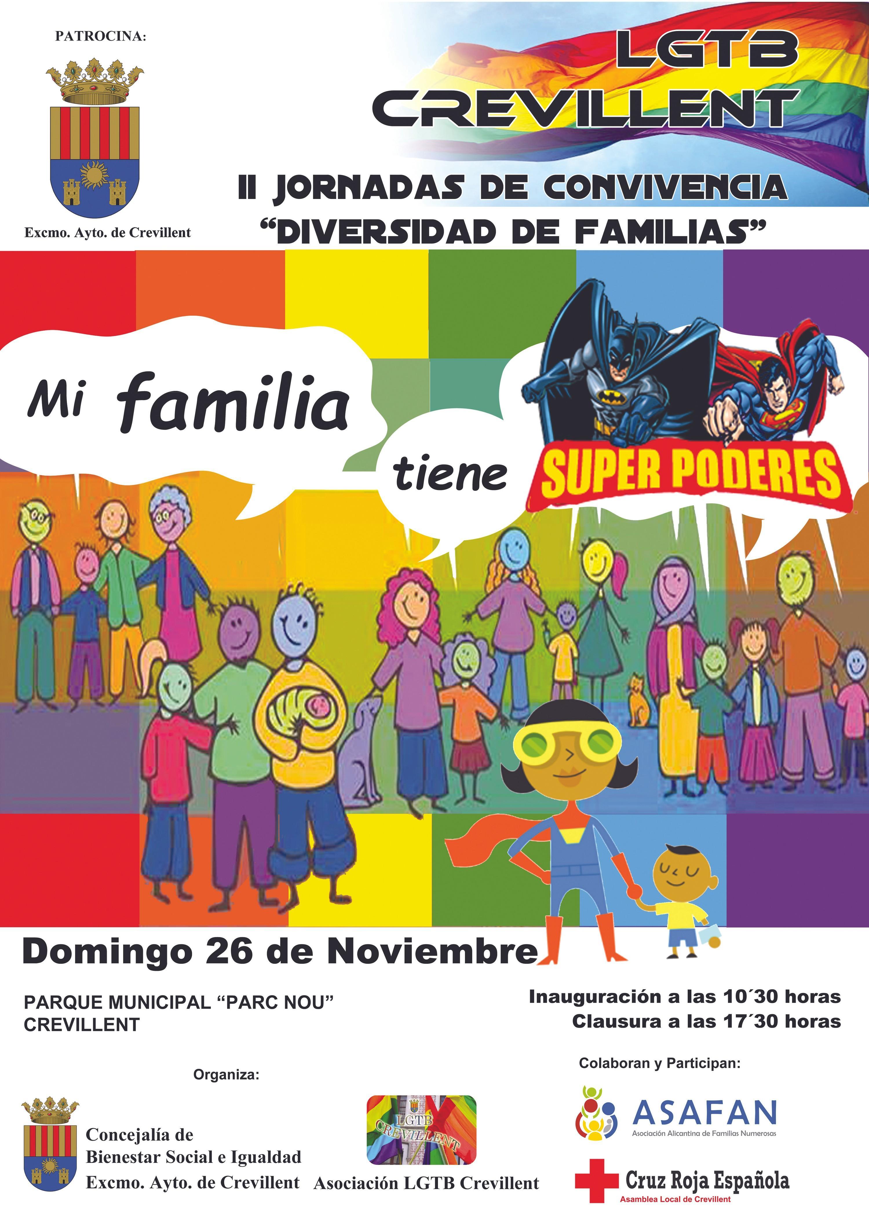 II Jornadas de convivencia «Diversidad de familias», Ayuntamiento de Crevillent, 2017.