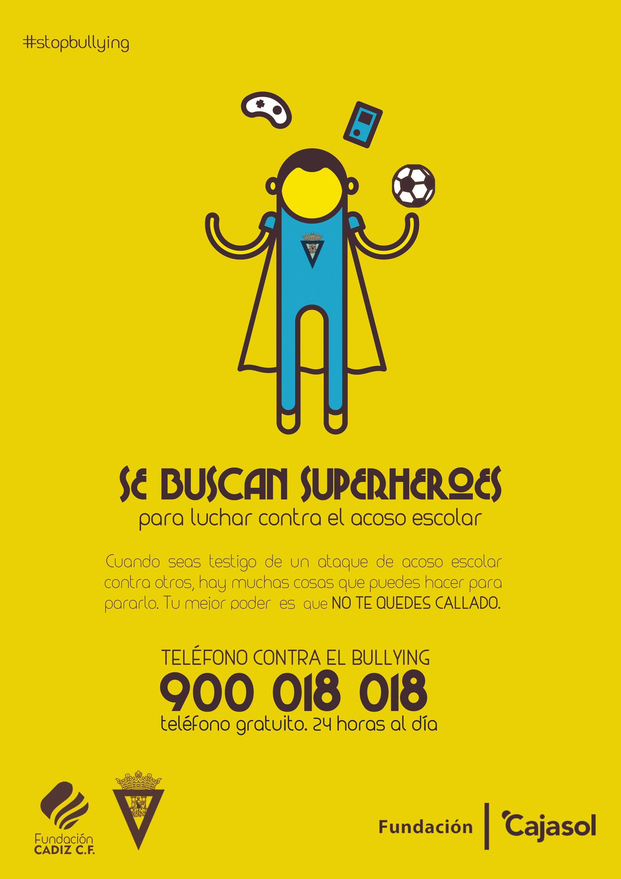 Campaña contra el acoso escolar, Fundación Cadiz C.F, 2017.