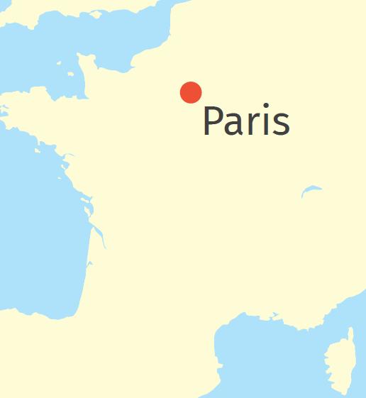 Riches et pauvres à Paris, carte