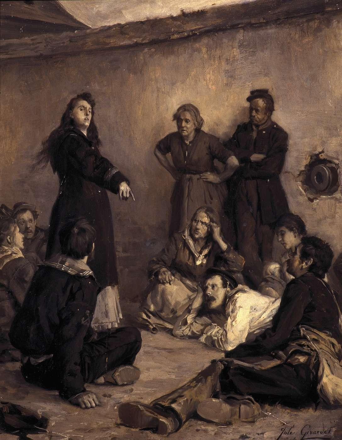 Jules Girardet, Louise Michel à Satory, 1871.