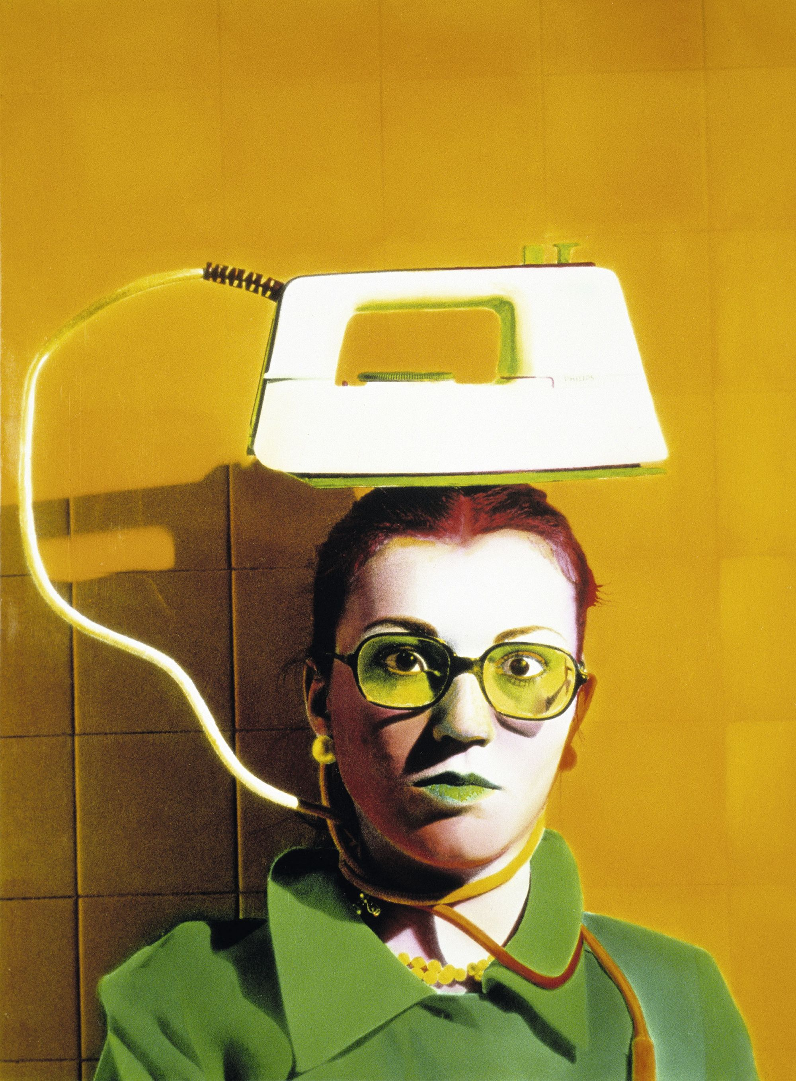 Ouka Leele, Salon de coiffure, de la série « Invraisemblances », 1979, photographie, Madrid, Espagne.