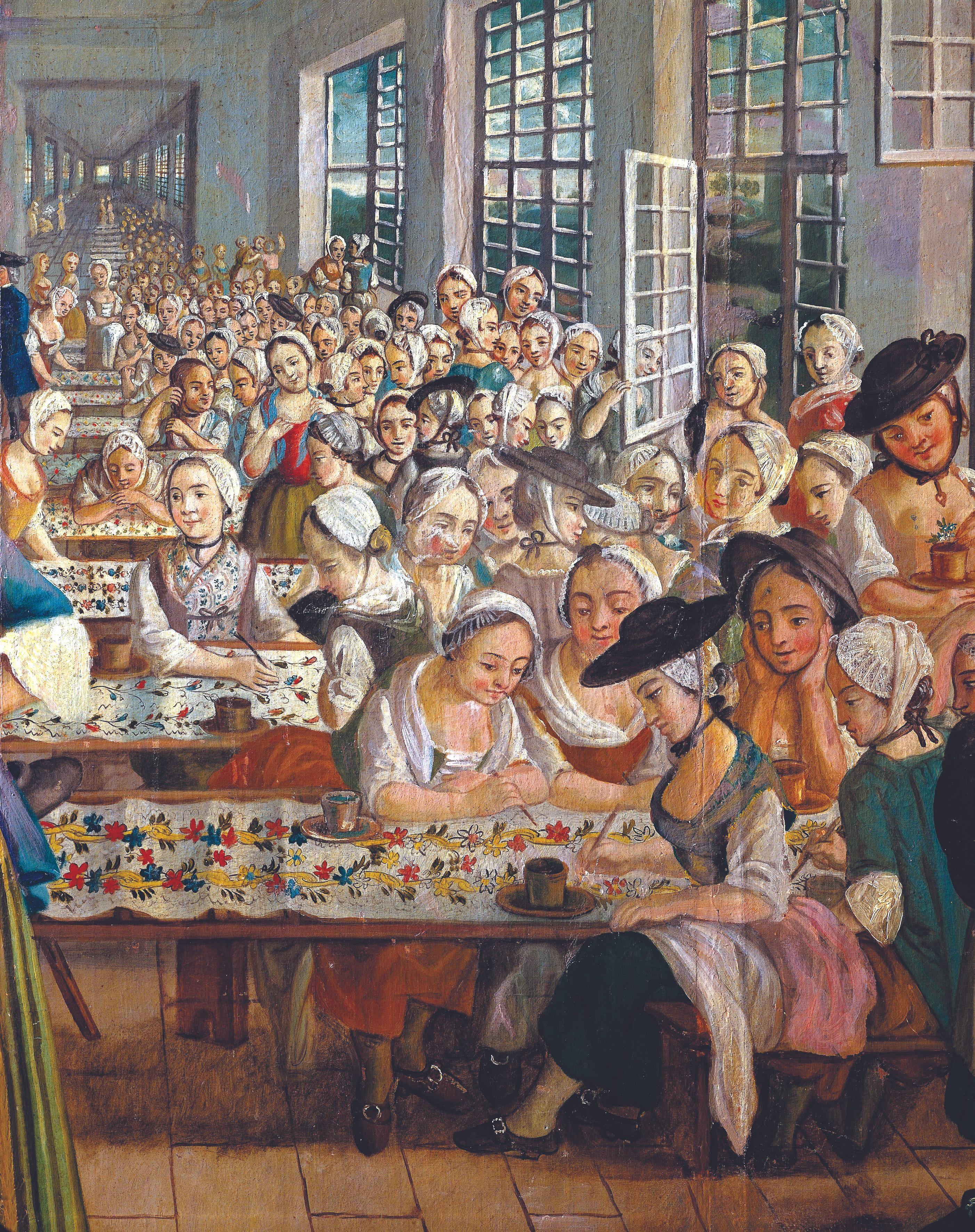 Gabriel Maria Rosetti, 1764, huile sur toile (détail), musée des Beaux-Arts, Orange