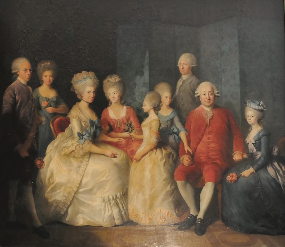 Simon-Bernard Le Noir, François Bonnaffé et sa famille, huile sur toile, 175 x 152 cm, 1781, collection famille Bonnaffé
