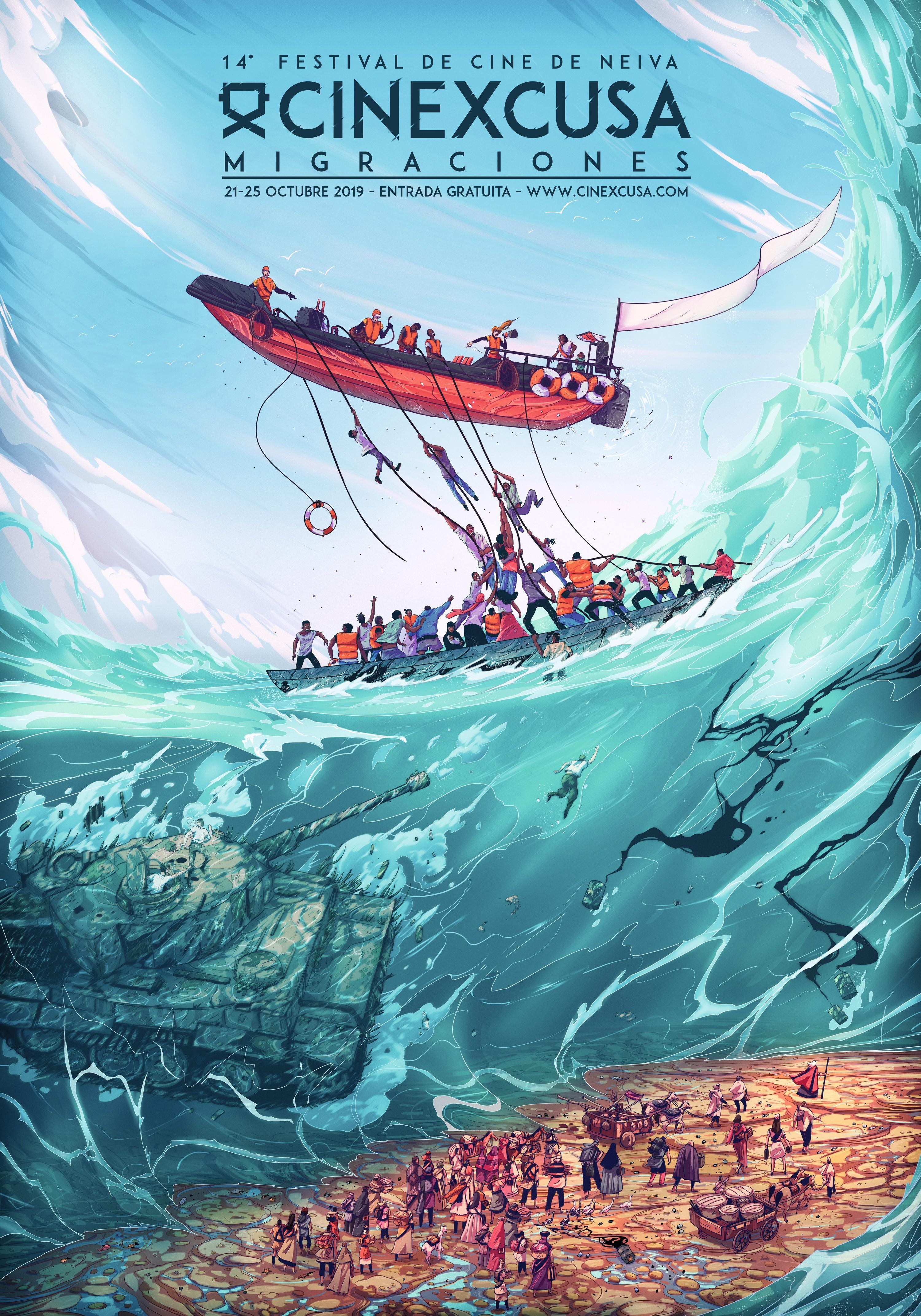 Voyager Illustration para el festival de Cine Cinexcusa, 2019