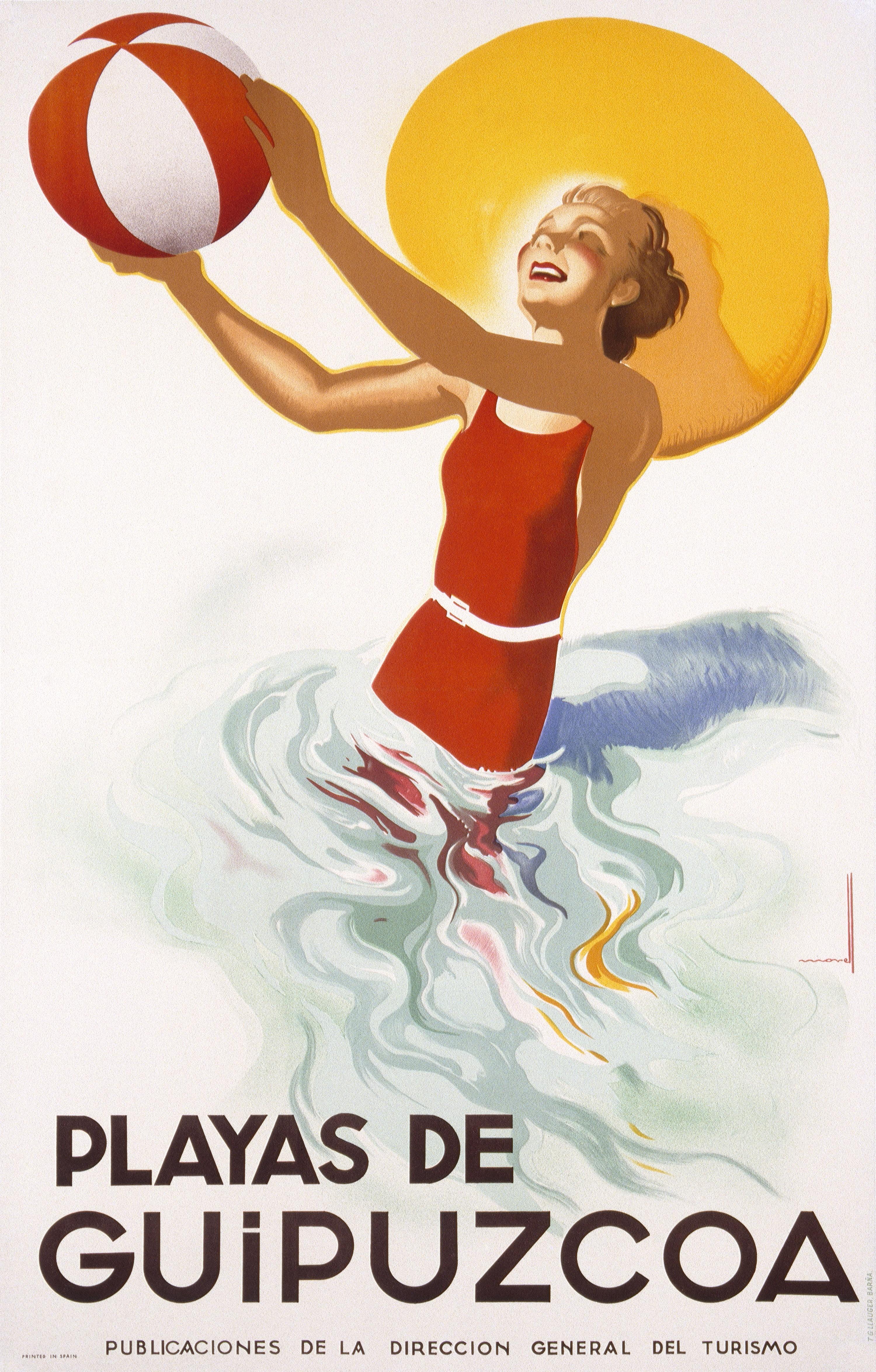 Une affiche de promotion du tourisme en Espagne, début du XXe siècle