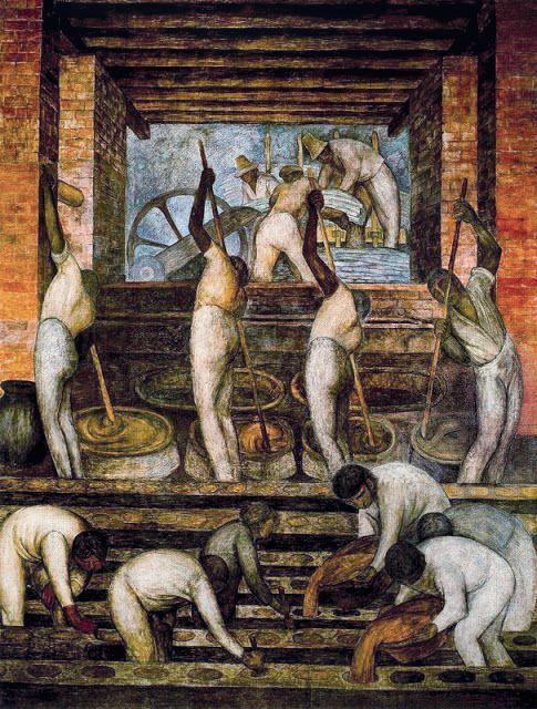 Diego Rivera, Le Moulin (La Fabrique de canne à sucre), 1923