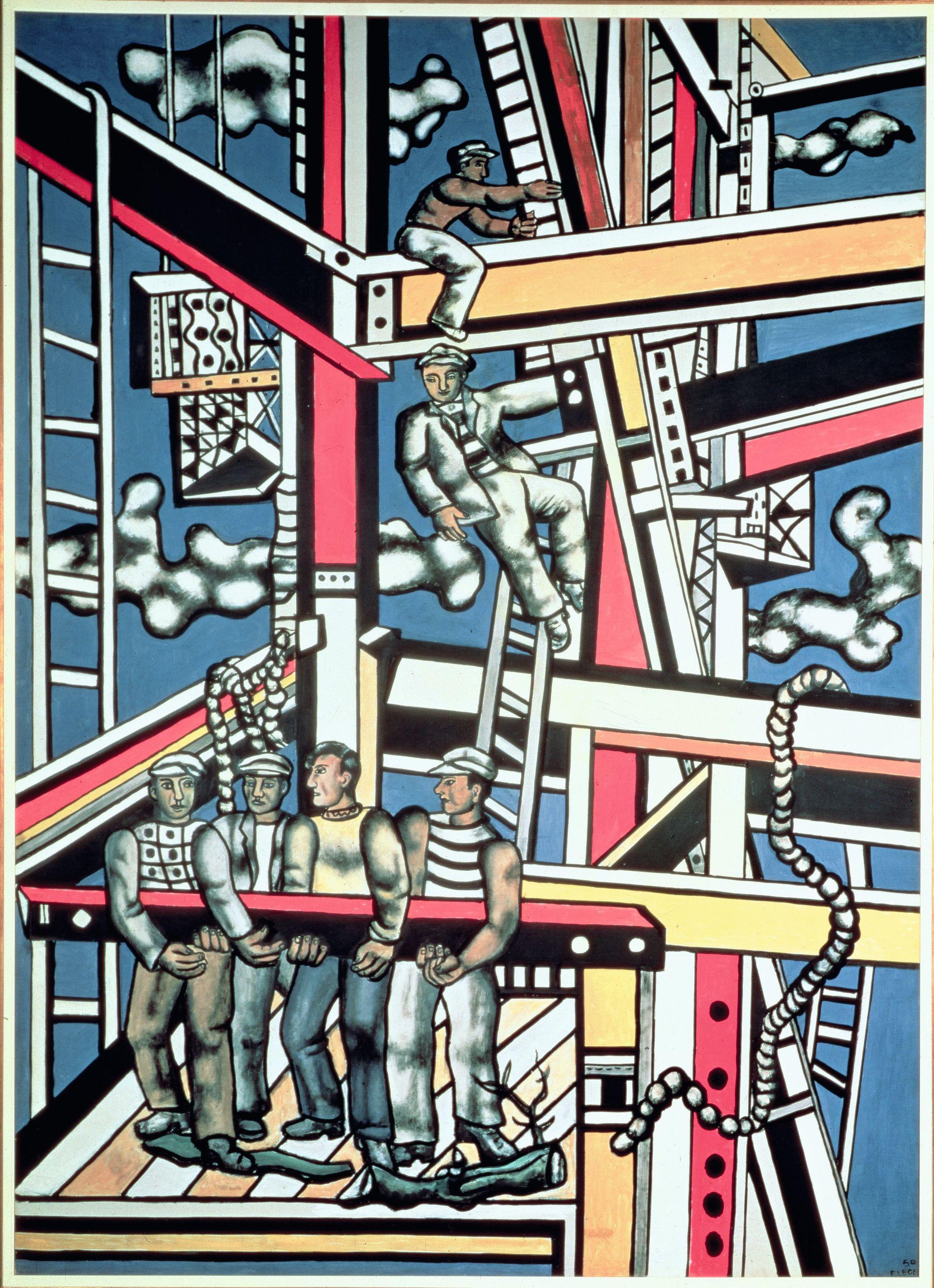 Les Constructeurs, Fernand Léger, 1950.