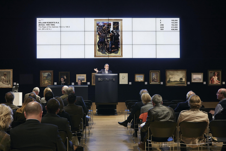 Mise en abîme : une oeuvre de William Roberts vendue aux enchères en 2015.