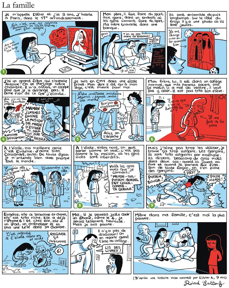 La socialisation familiale vue par Les Cahiers d'Esther de Riad Sattouf