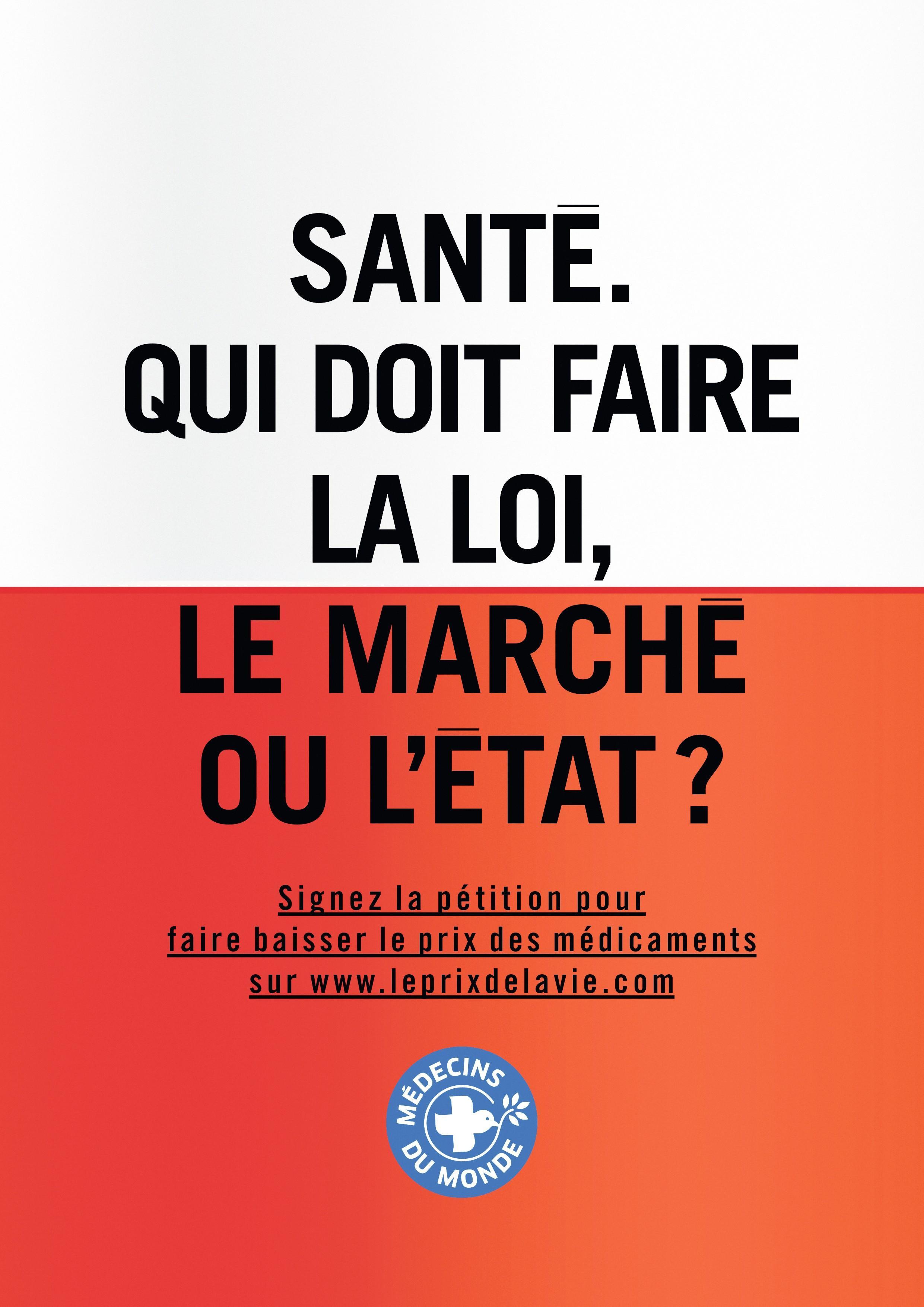 Médecins du Monde, « Le prix de la vie », campagne publicitaire, 2016.