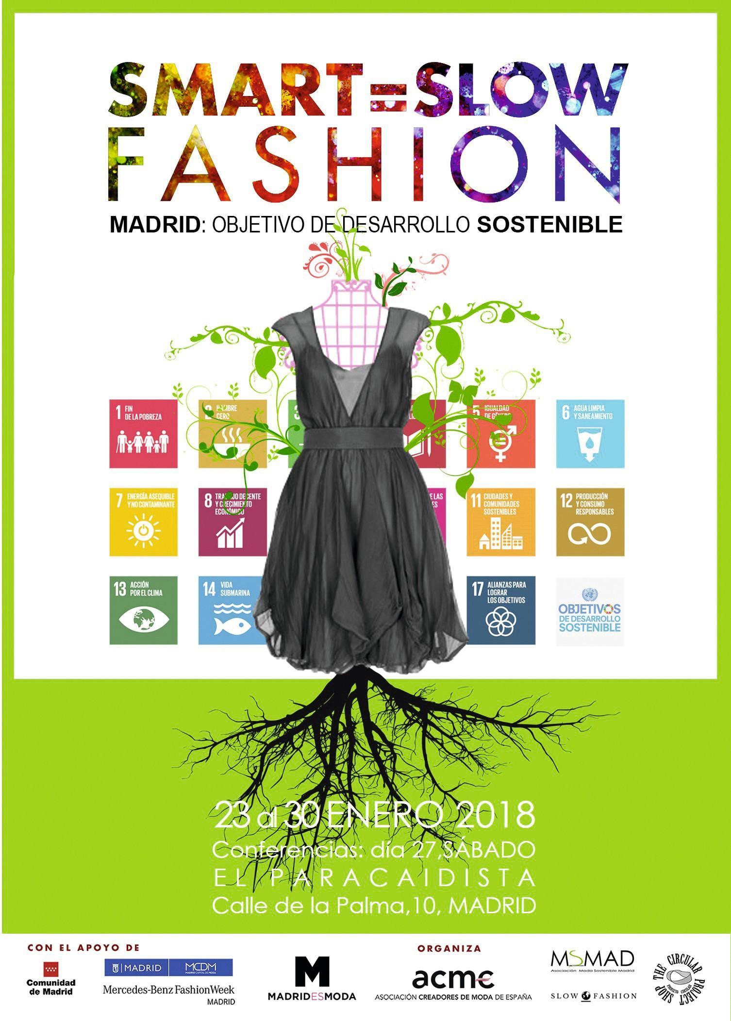 Cartel de la exposición sobre la moda sostenible, Madrid, 2018