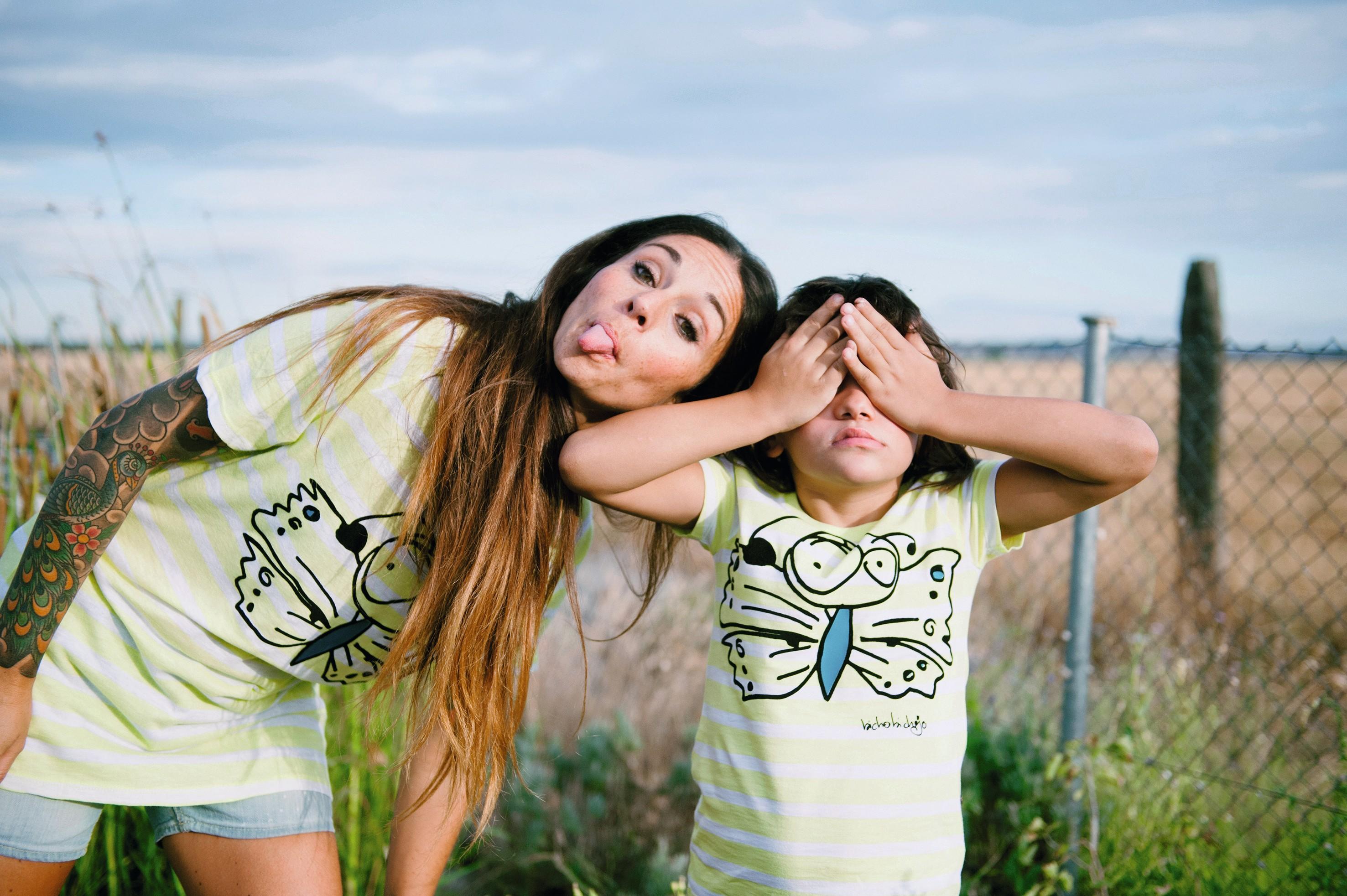 Foto de Dani Mantis para Bicho Bichejo, marca española de ropa sostenible