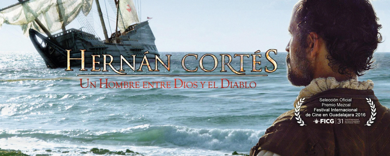 Cartel del documental Hernán Cortés de Fernando González Sitges, 2016.