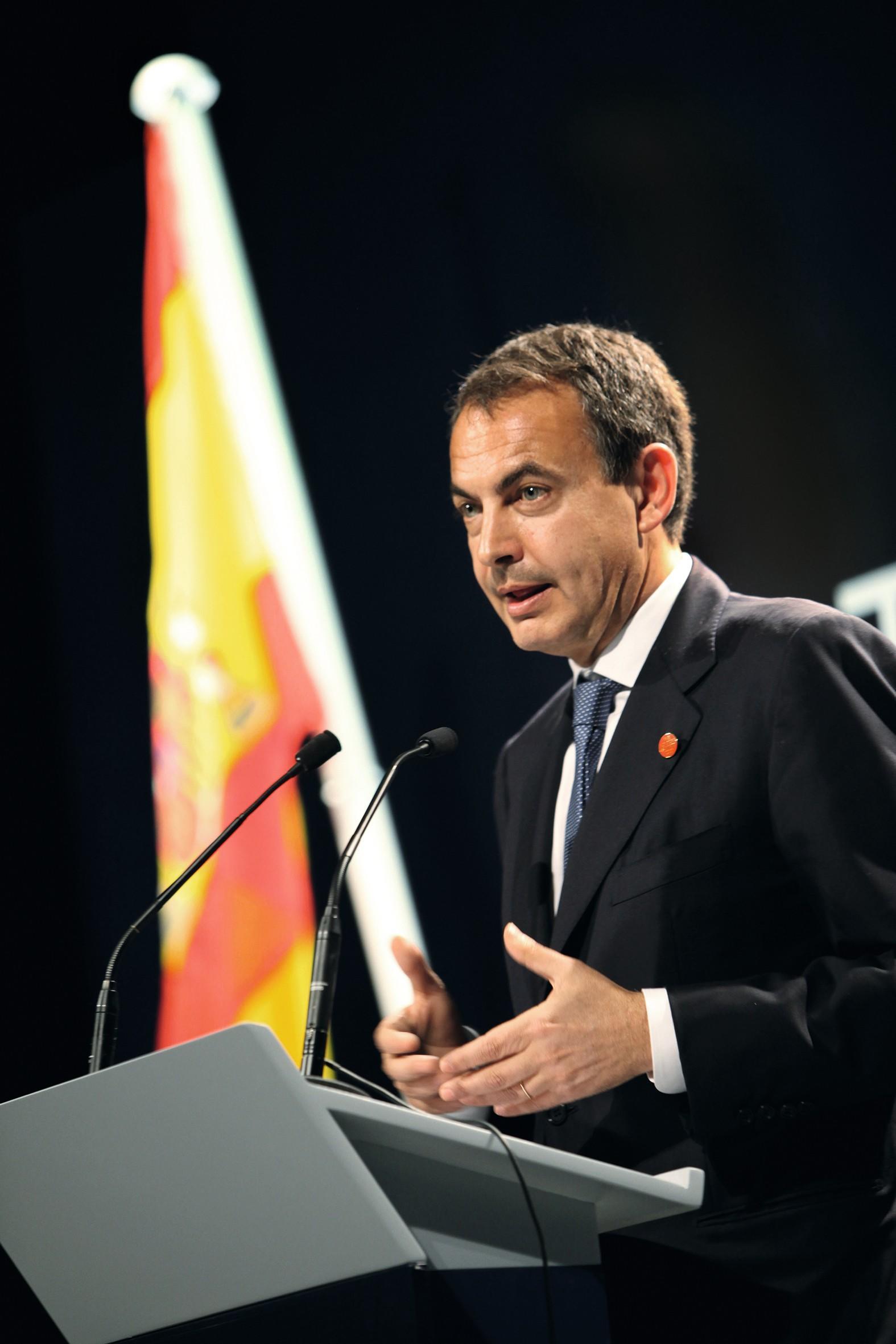 El antiguo Primer ministro español José Luis Rodríguez Zapatero, 2009.o