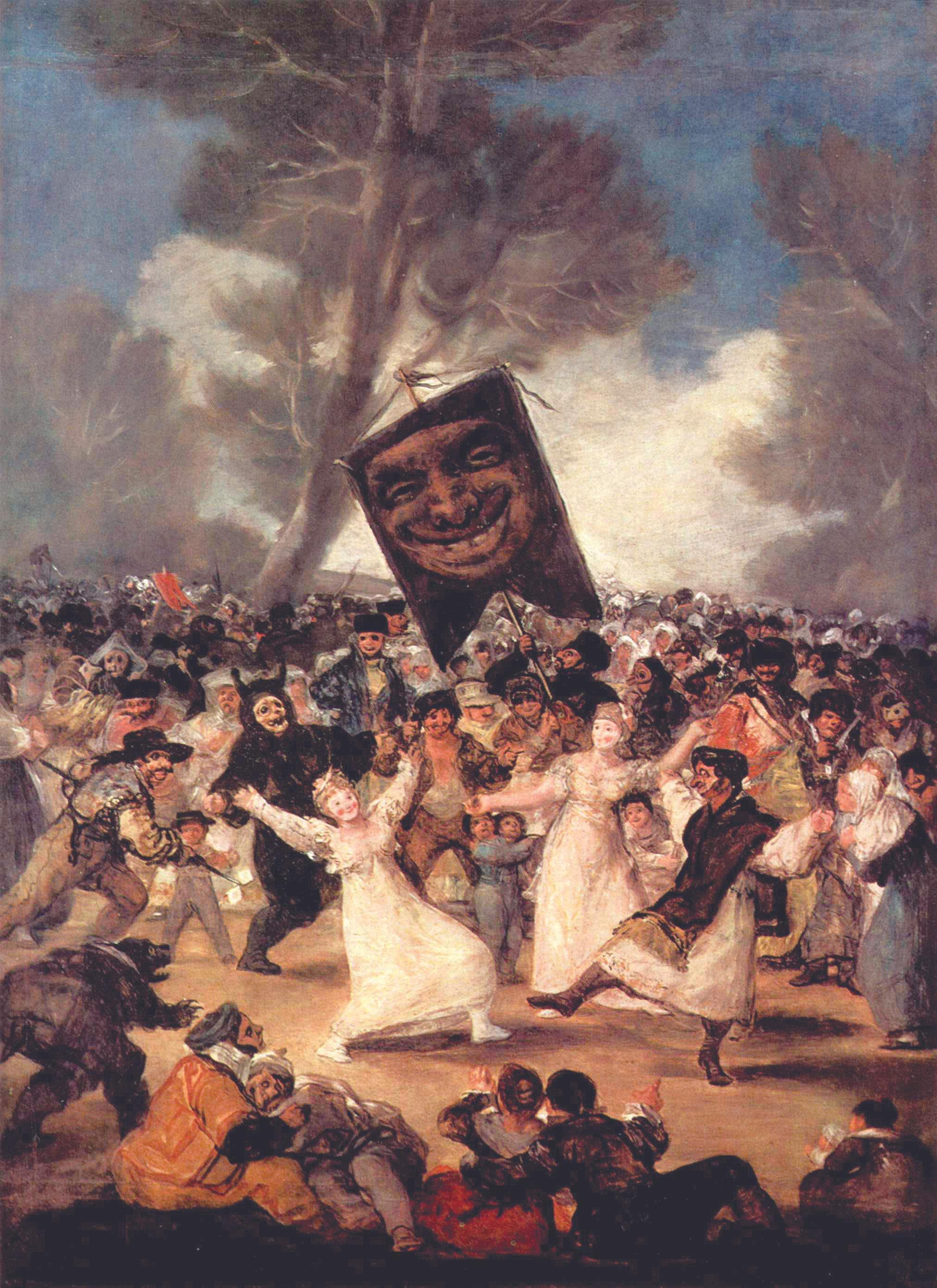 Francisco de Goya, El entierro de la sardina, 1819