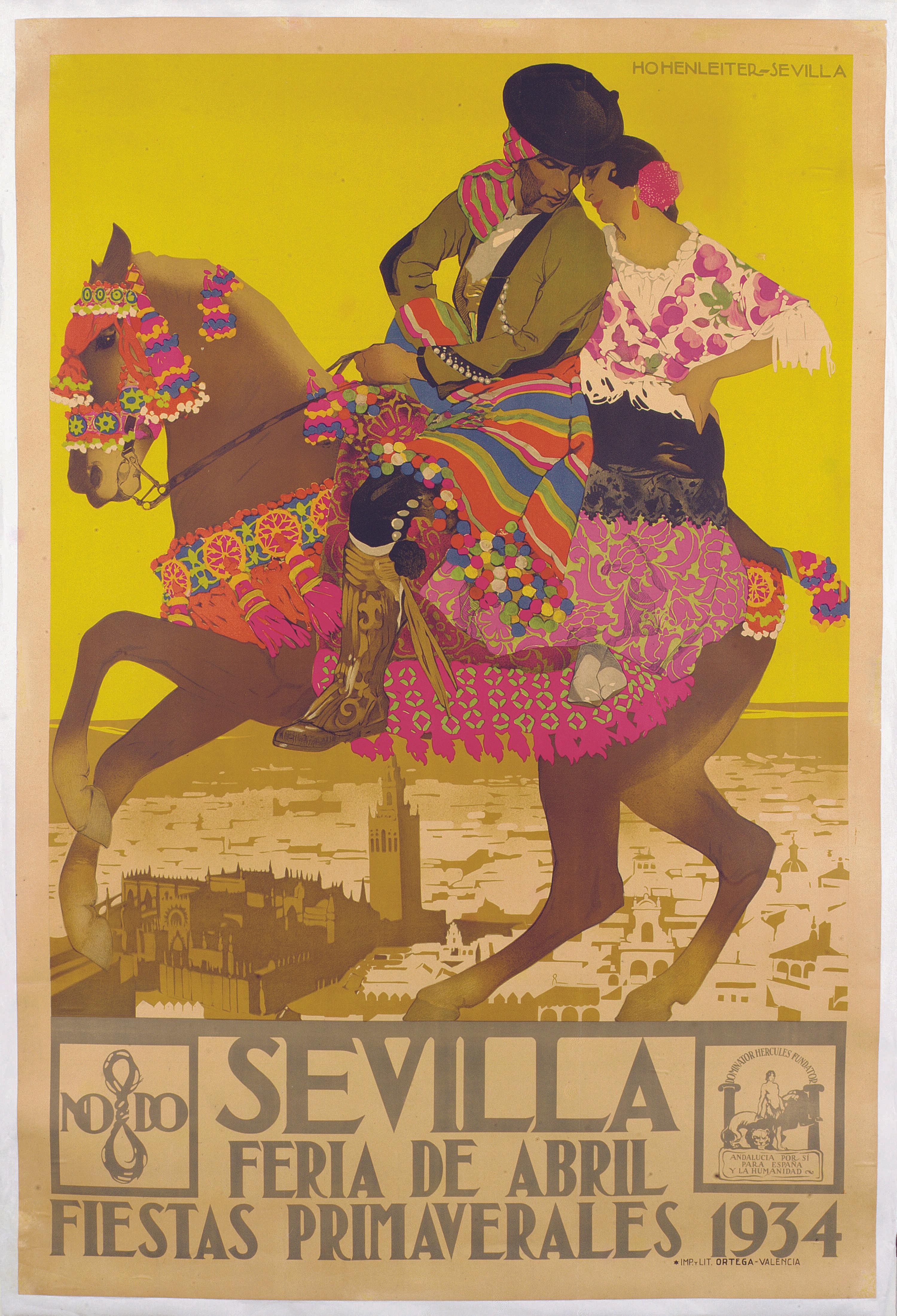 Cartel para la feria de Sevilla, 1934.