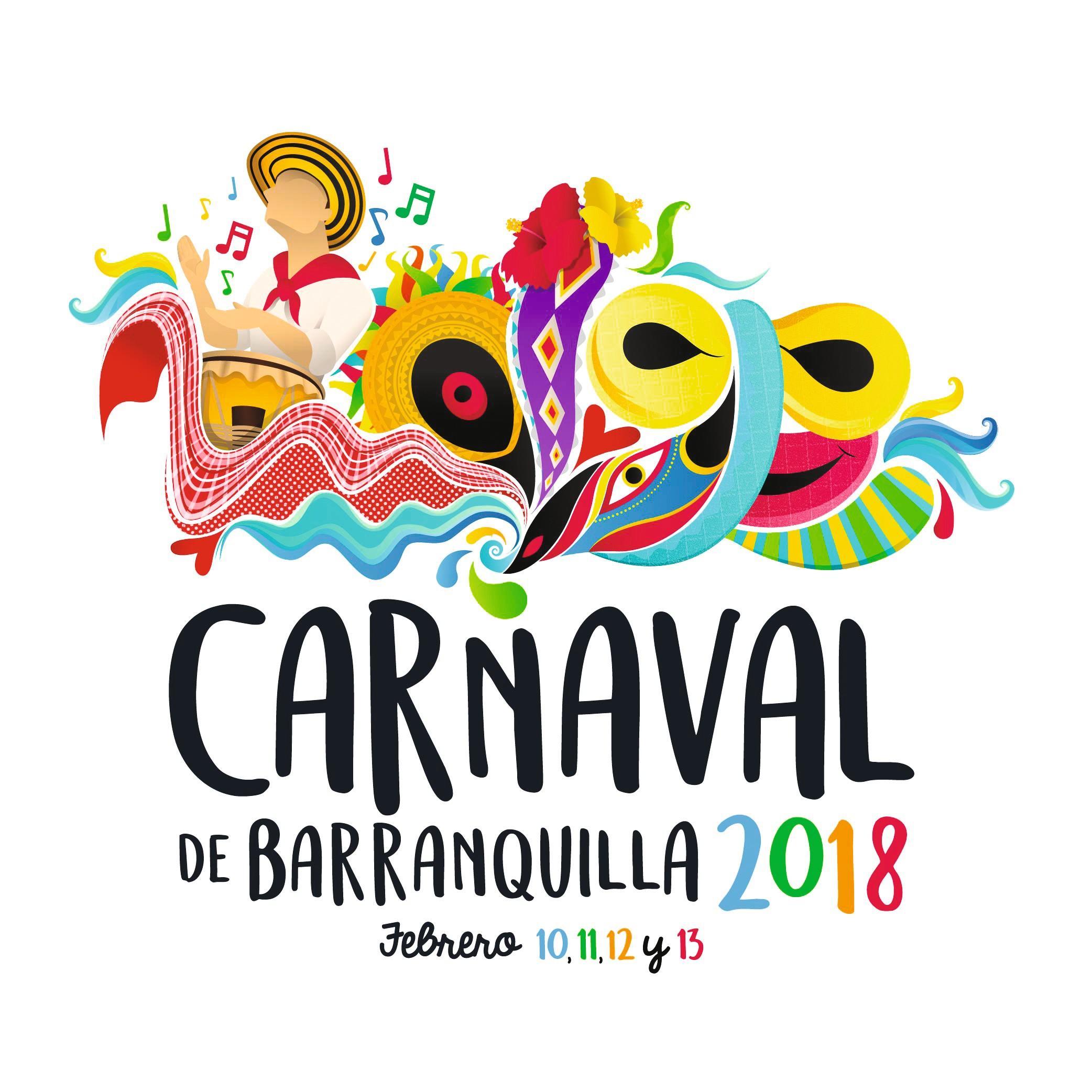 Publicidad para el carnaval de Barranquilla, 2018.