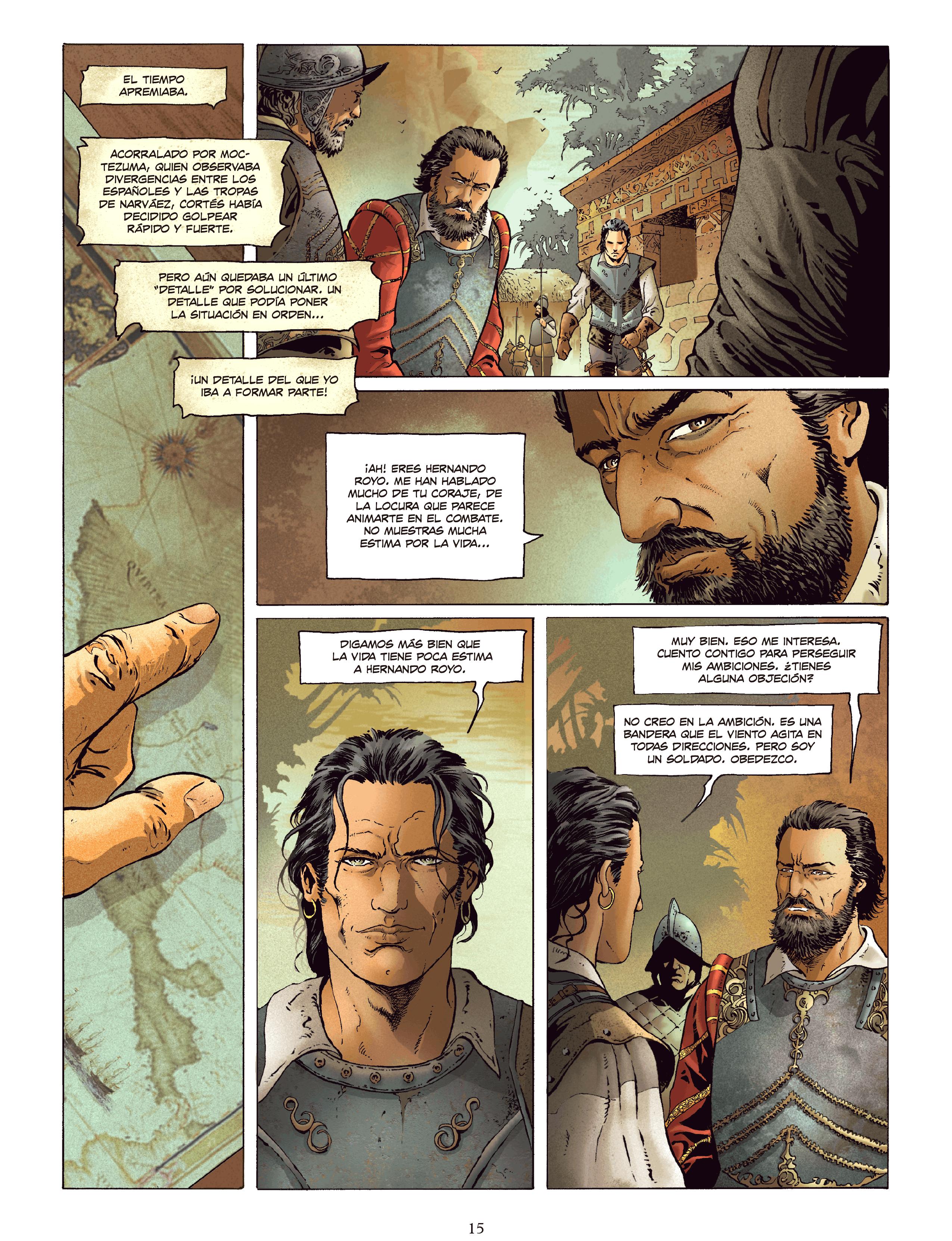 Jean Dufaux y Philippe Xavier, Conquistador, 2018. Traducido al español por Floyd Wayne.