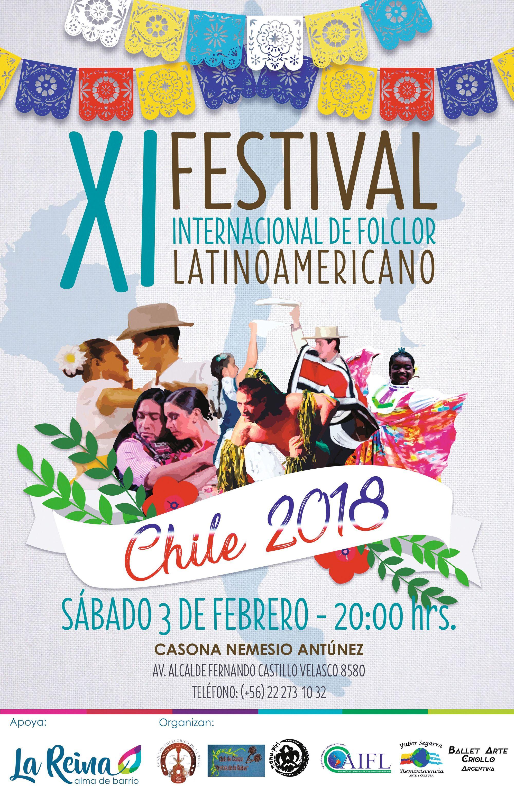 Cartel Festival Folclor Latinoamericano, 2018.