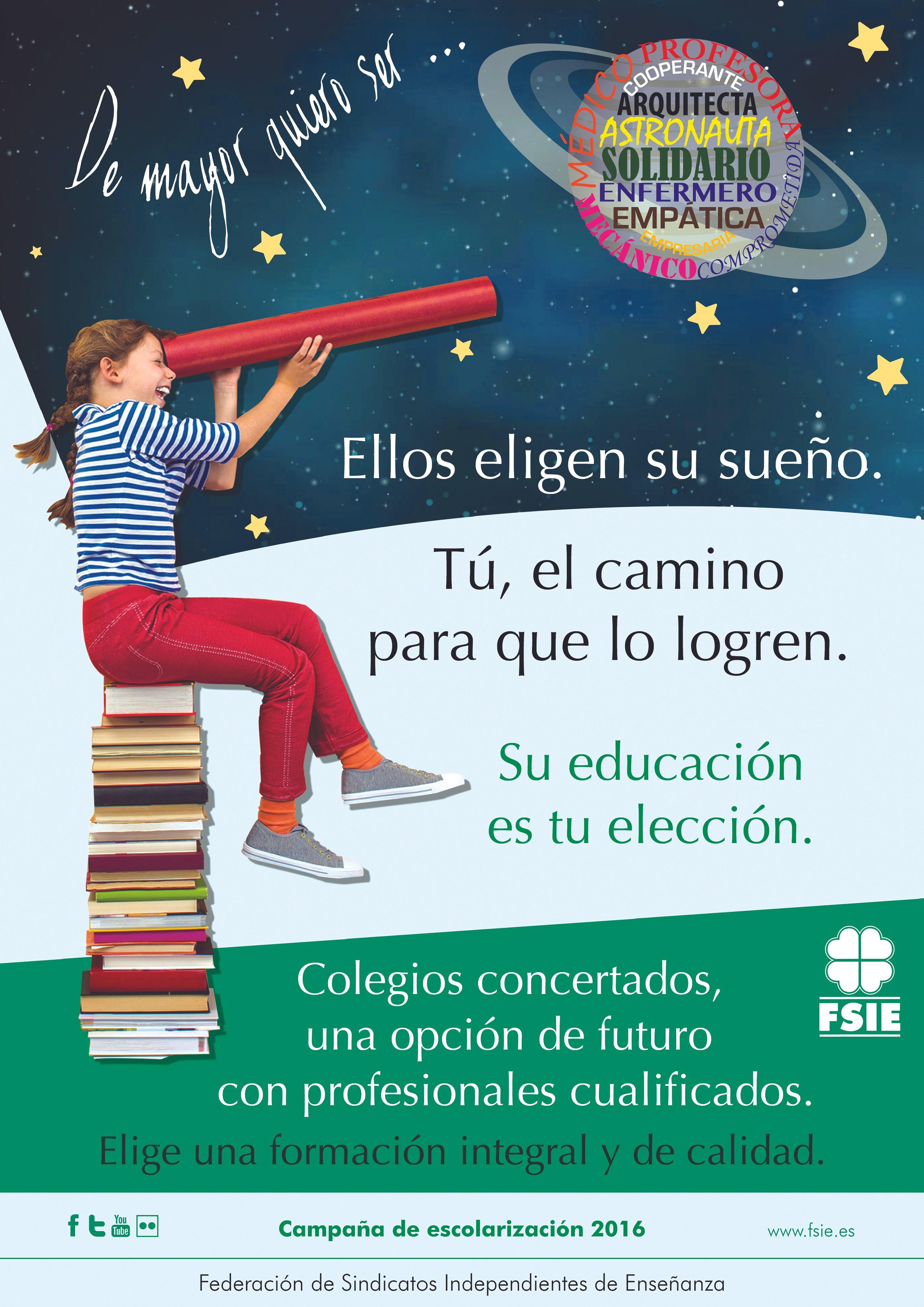 Campaña de la Federación de Sindicatos Independientes de Enseñanza, 2016.