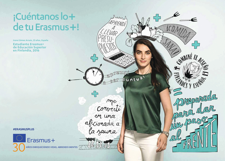 Irene Gómez Arnaiz, estudiante Erasmus+, #ErasmusPlus, 2016.