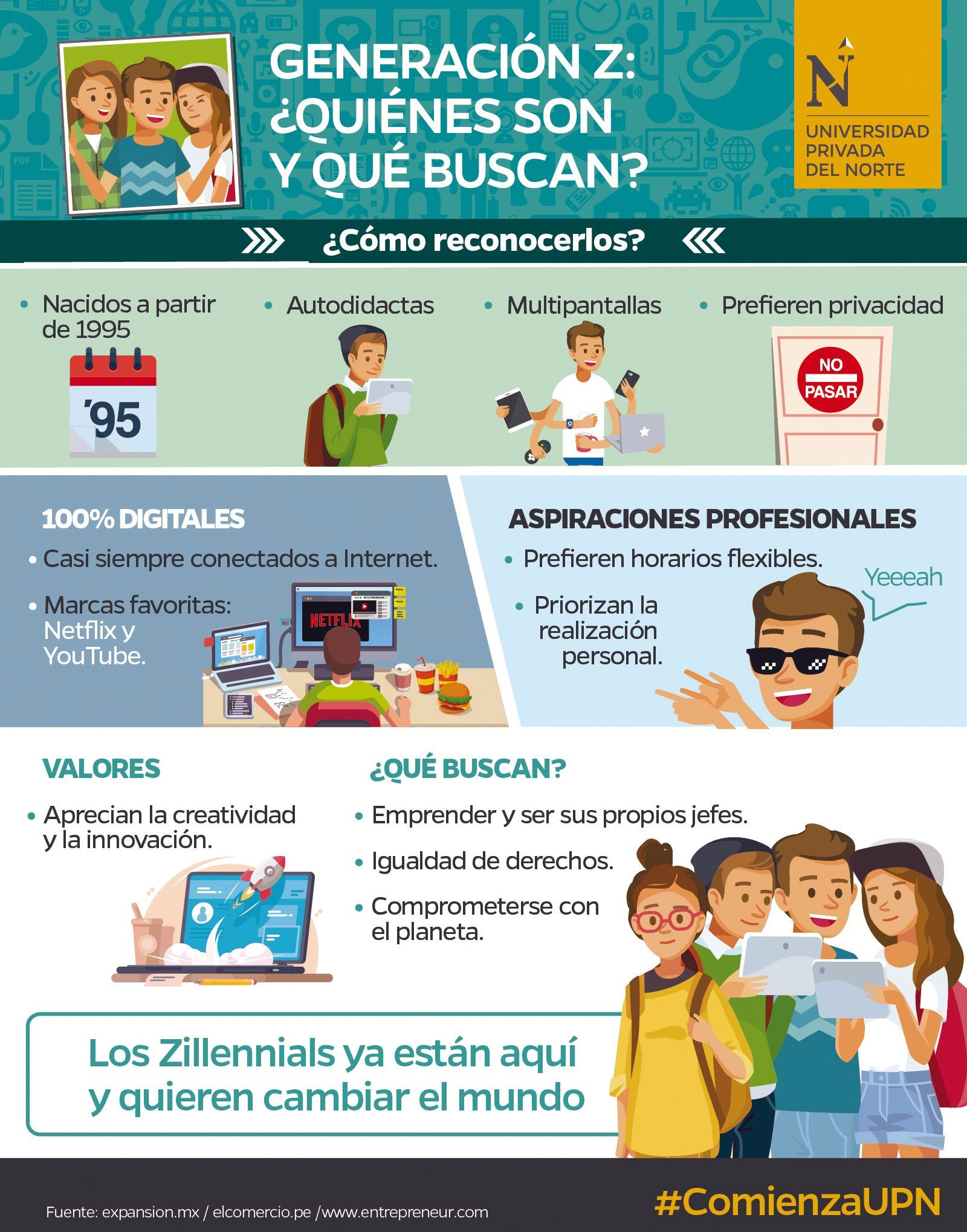 Infografía de la Universidad Privada del Norte, Trujillo, Perú, 2017.
