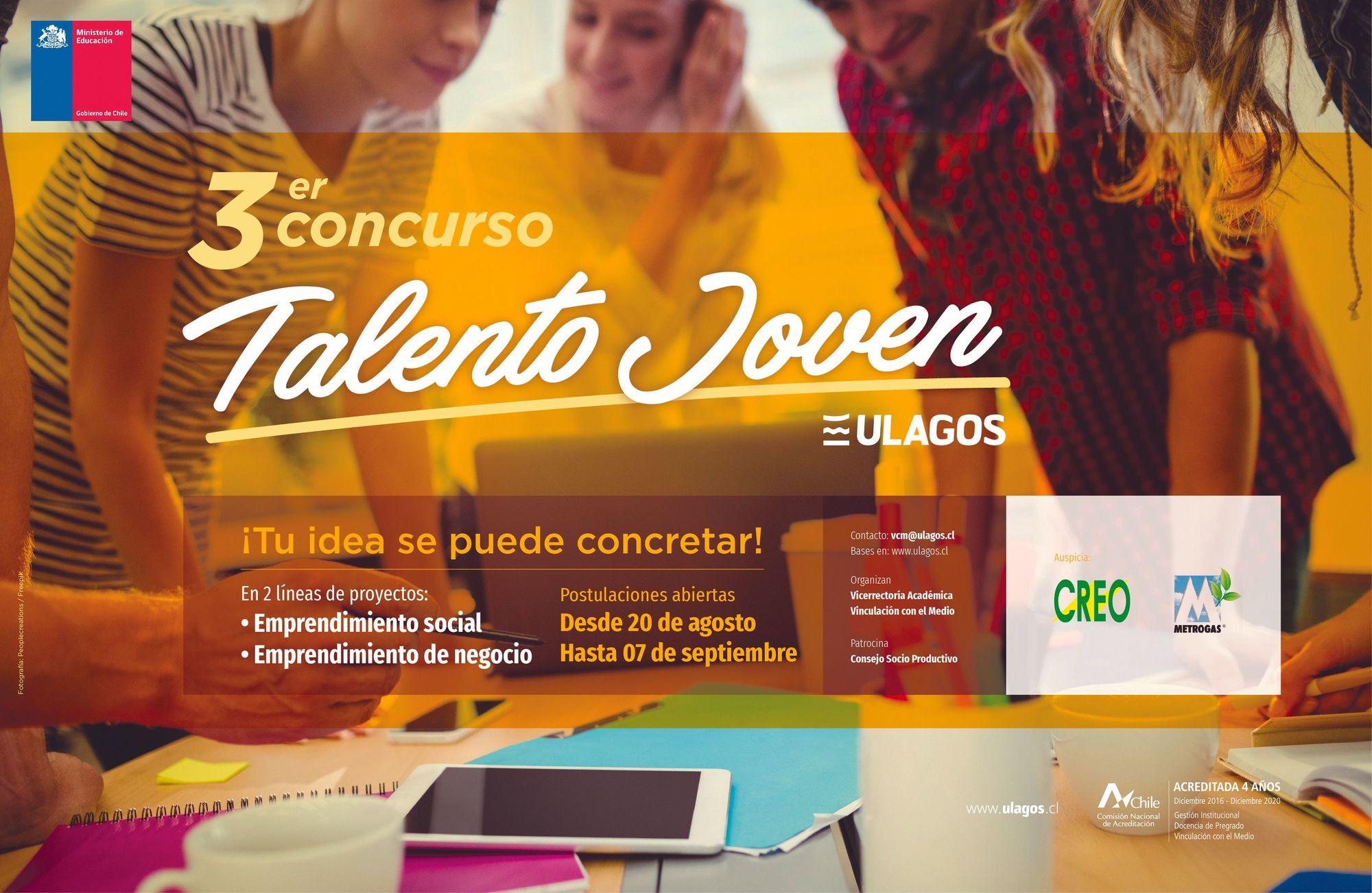 Concurso Talento Joven, Universidad de los Lagos, Chile, 2018.