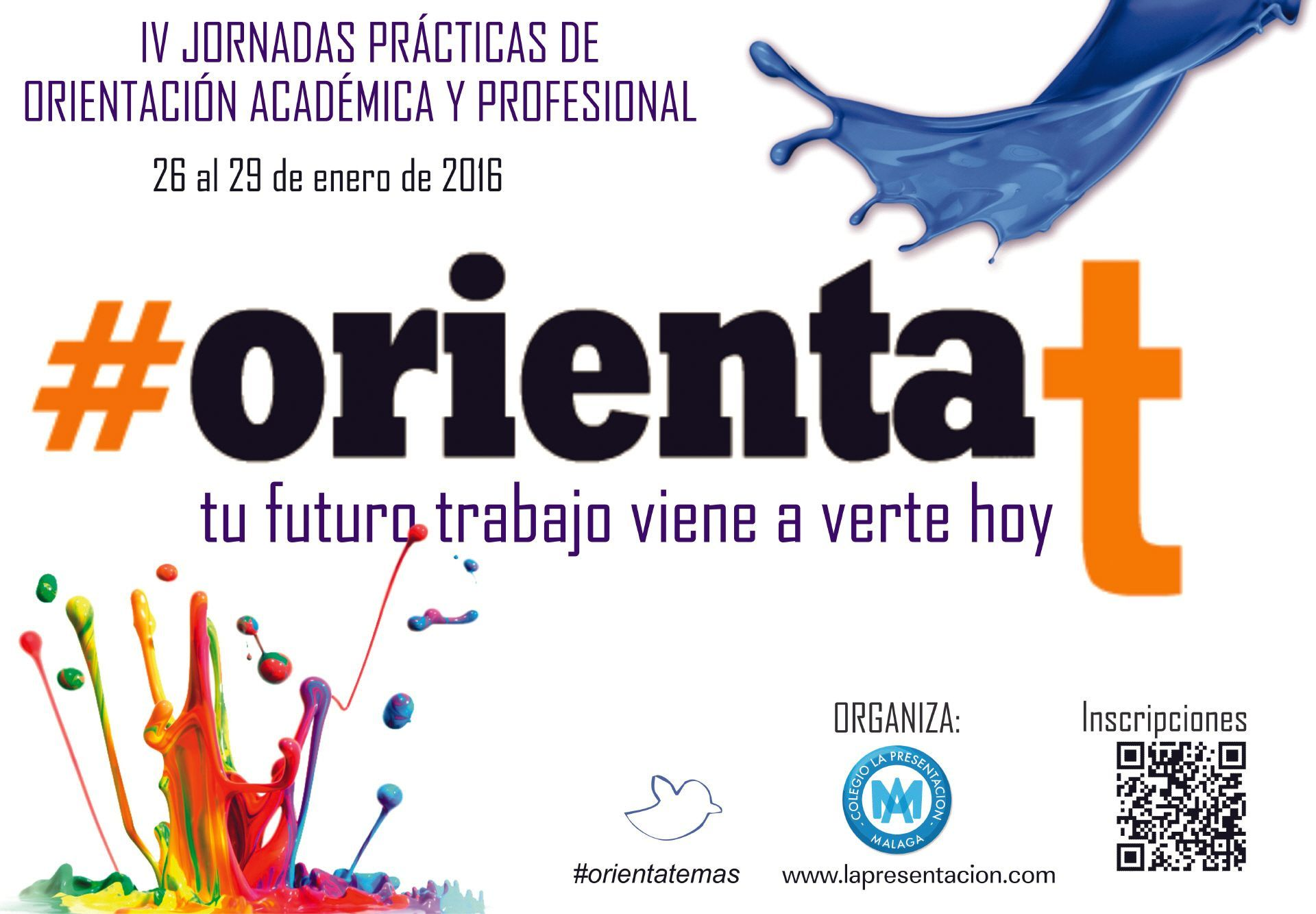 Cartel de las IV jornadas prácticas de orientación académica y profesional, 2016.