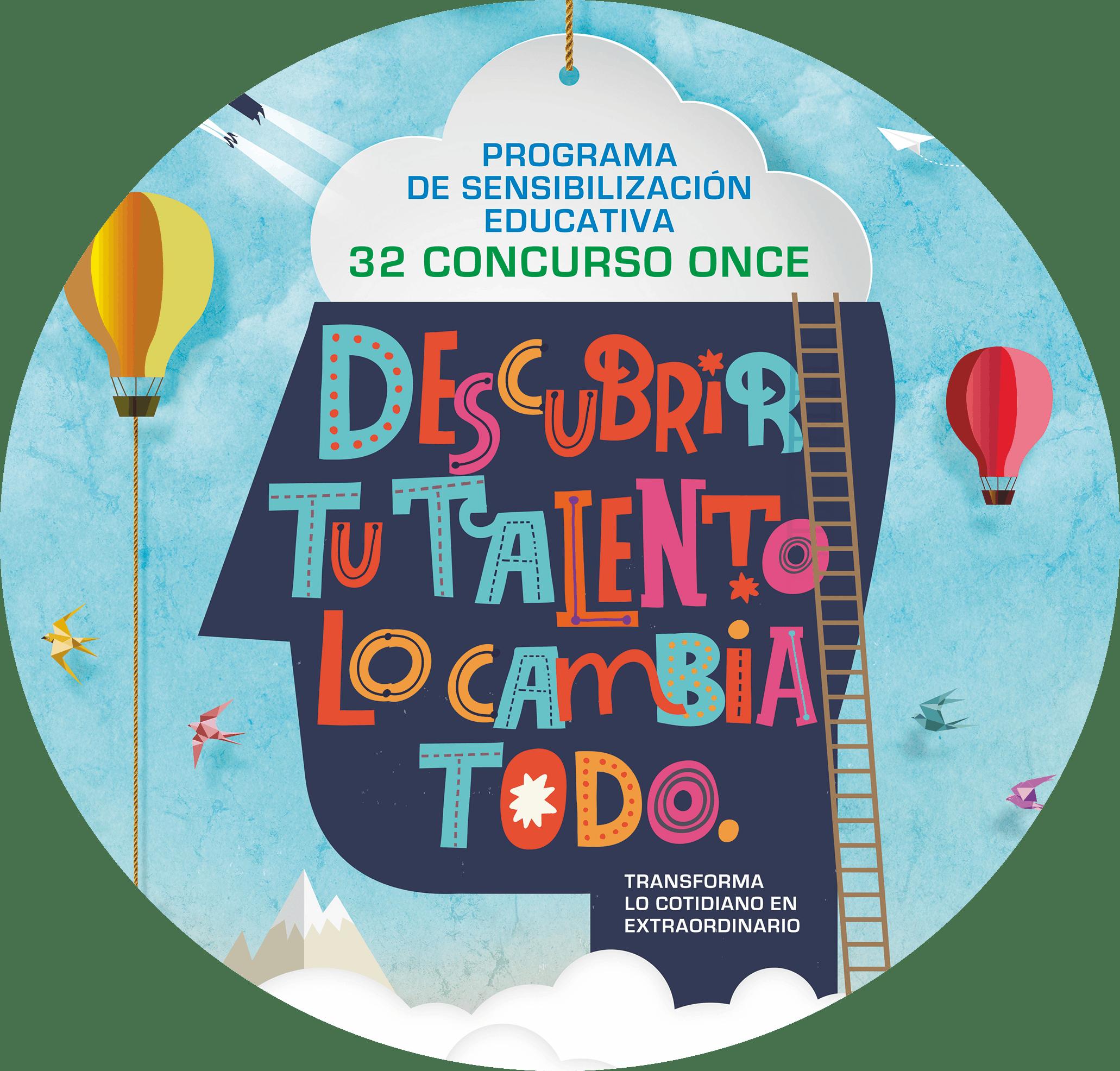 Cartel del 32 concurso escolar de la ONCE, portrait