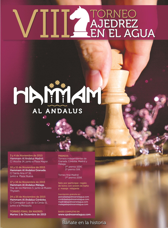 Cartel publicitario de Hammam al-Ándalus, 2015.