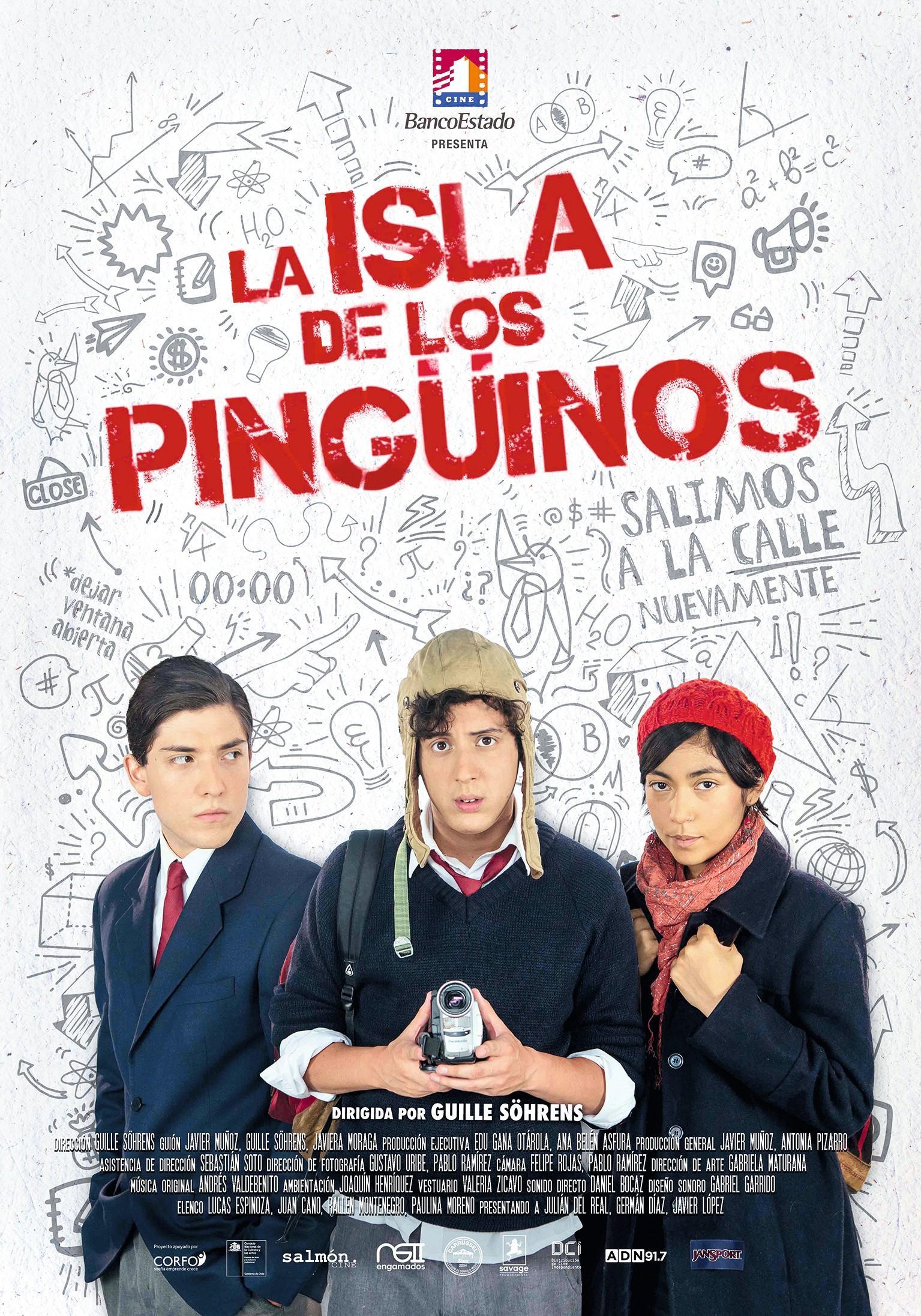 Cartel de la película La Isla de los pingüinos, de Guille Söhrens, 2017.