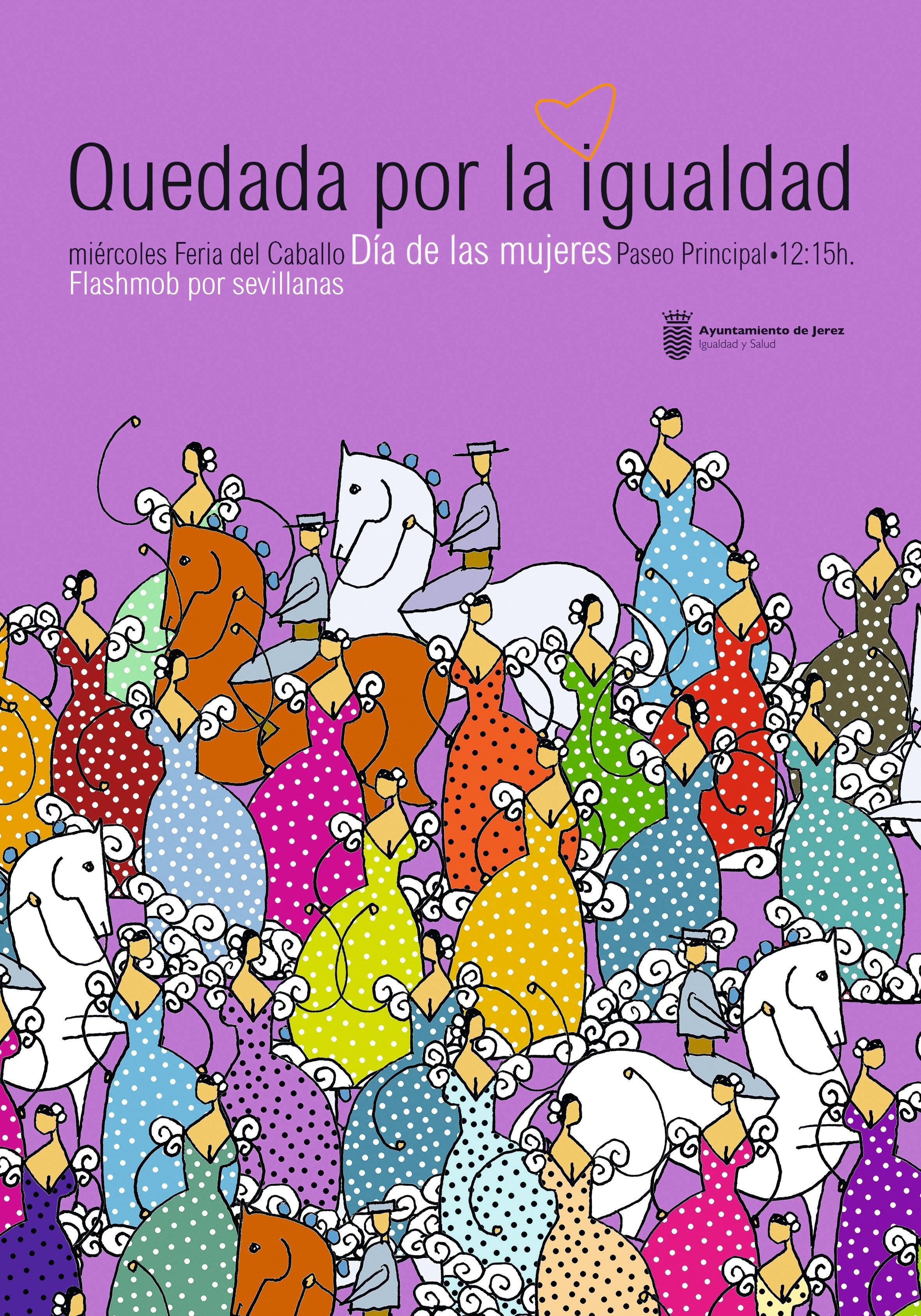 Cartel del Flashmob por sevillanas organizado en Jerez de la Frontera, 04/05/16.