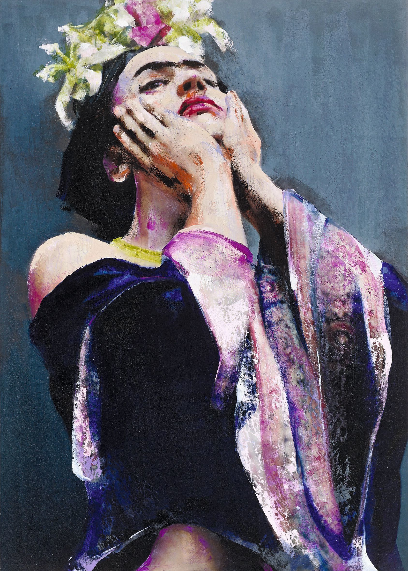 Lita Cabellut, serie Frida, La perla negra, 2011.
