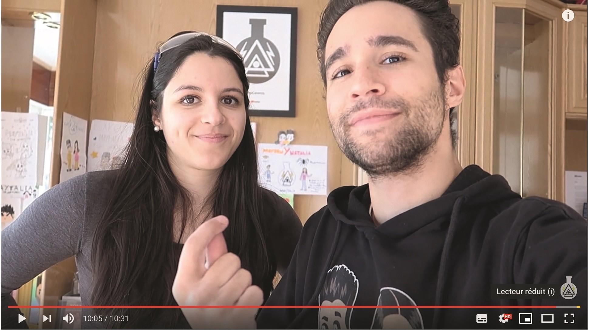 Los Youtubers Mayden y Natalia, cuenta Youtube Experimentos Caseros.