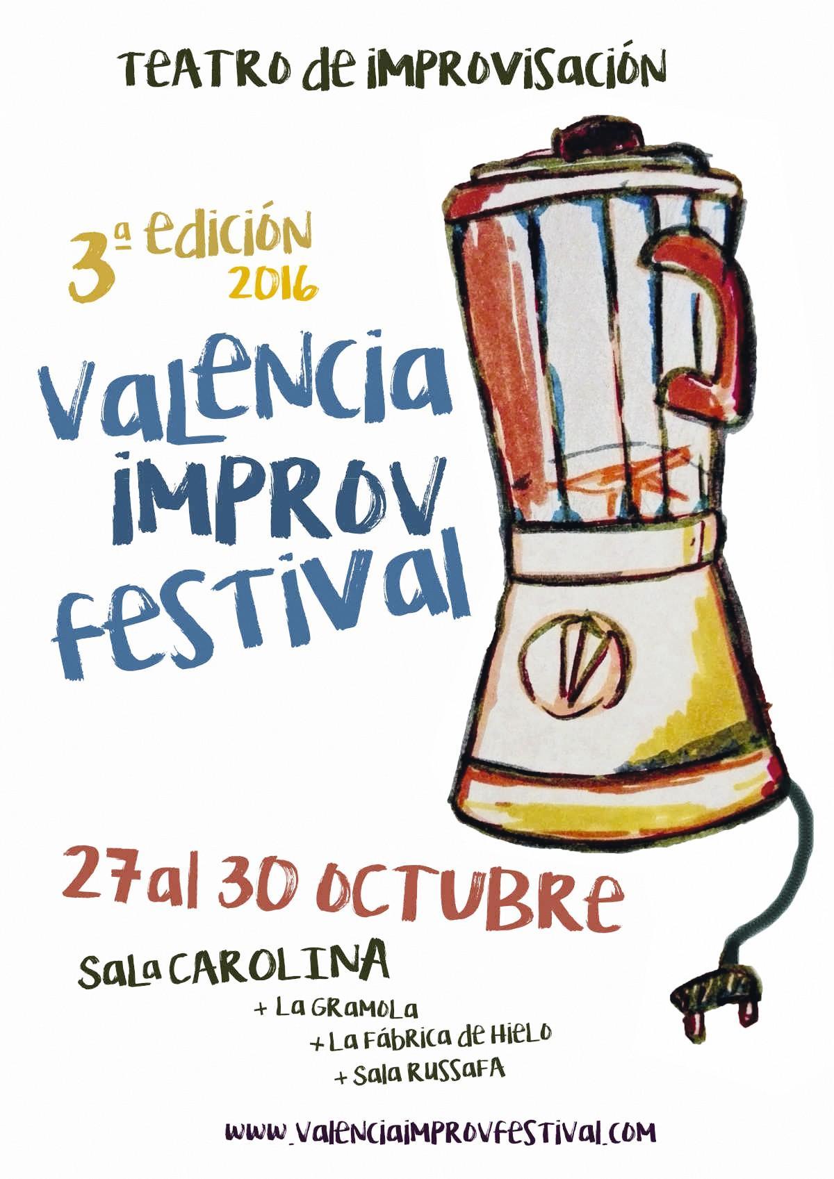 Cartel de promoción para el concurso de  improvisación de Valencia, 2017.