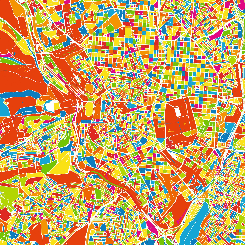 Mapa de la ciudad de Madrid.