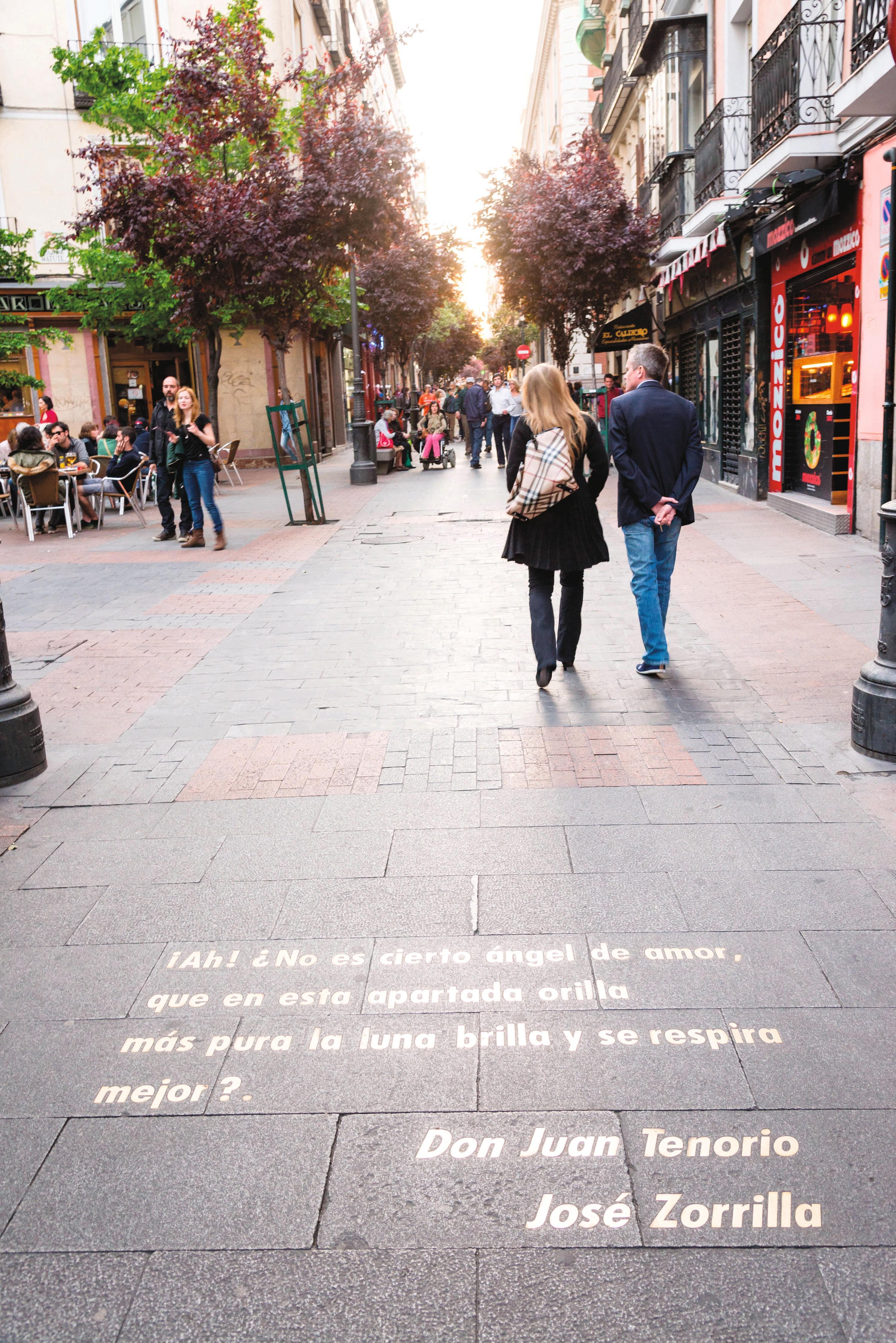 Calle de las Huertas, barrio de las Letras, Madrid.