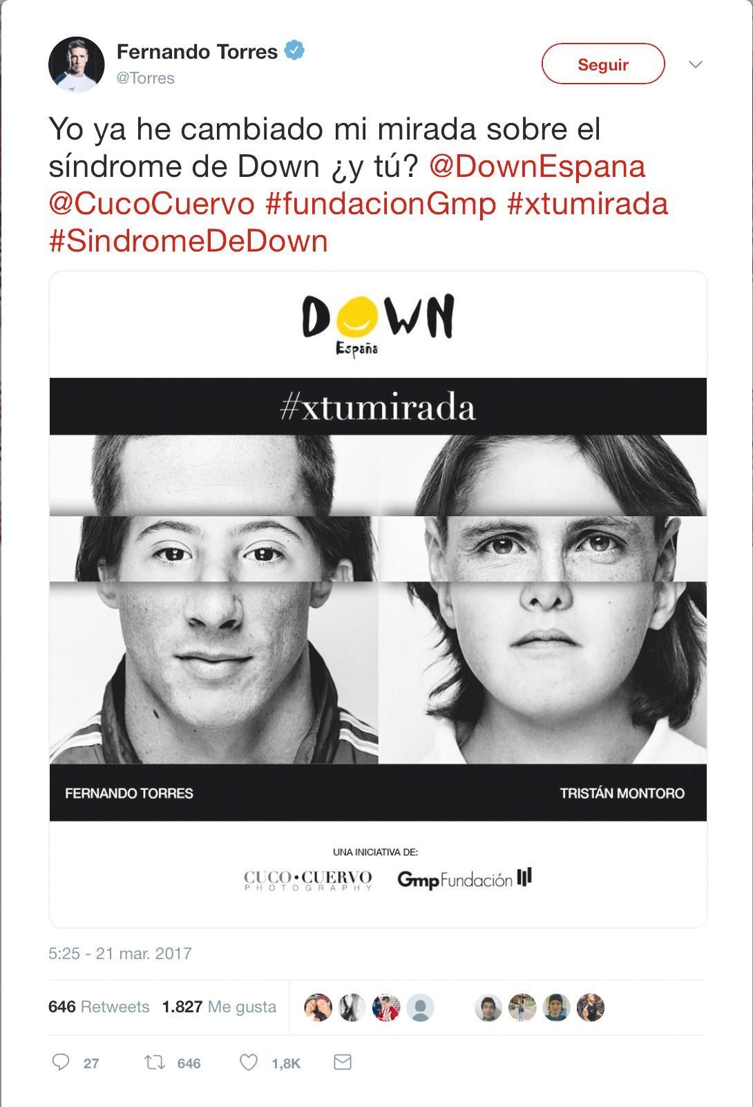 Campaña de sensibilización con motivo del Día del Síndrome de  Down, 2017