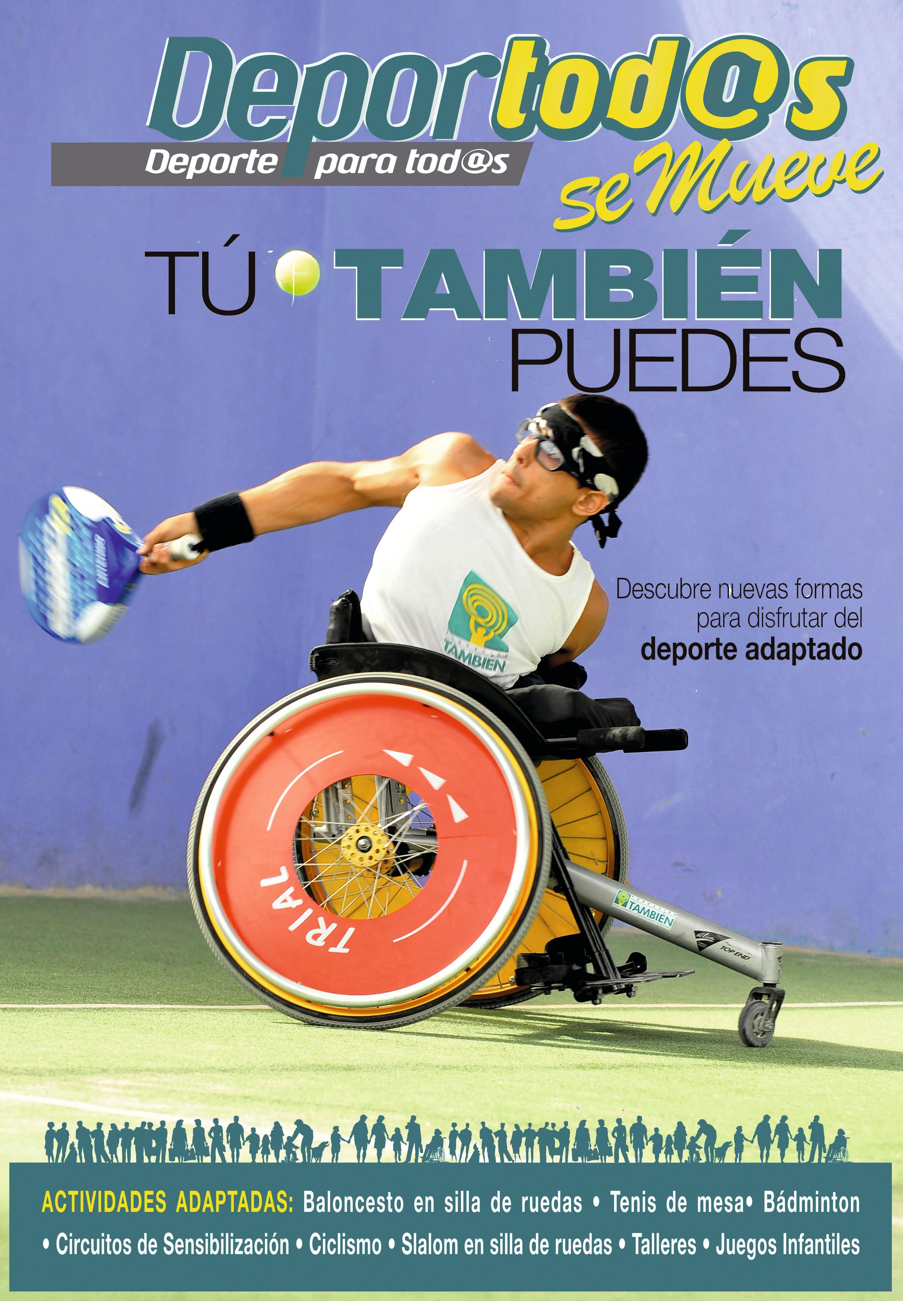 Cartel anunciando una jornada deportiva de  integración, San Fernando, 2012.