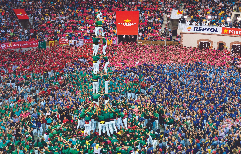 Concurso de castells (torres humanas) de Tarragona, 2016.