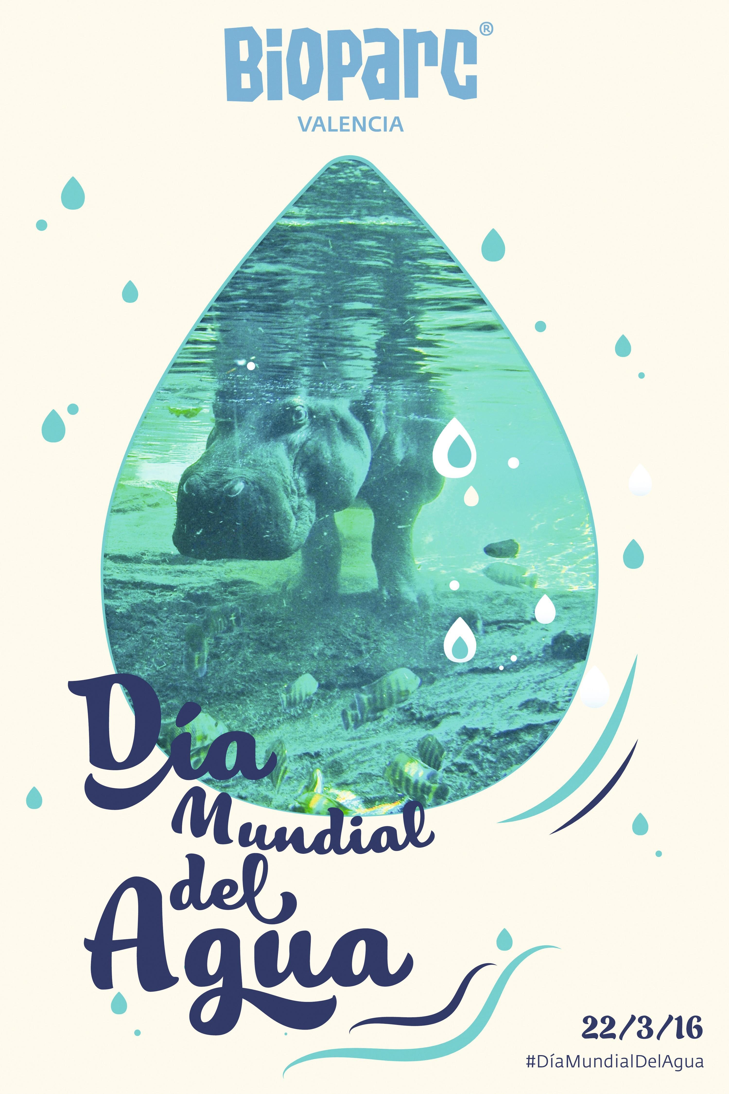 Cartel del Día Mundial del Agua, Bioparc Valencia, 2016.